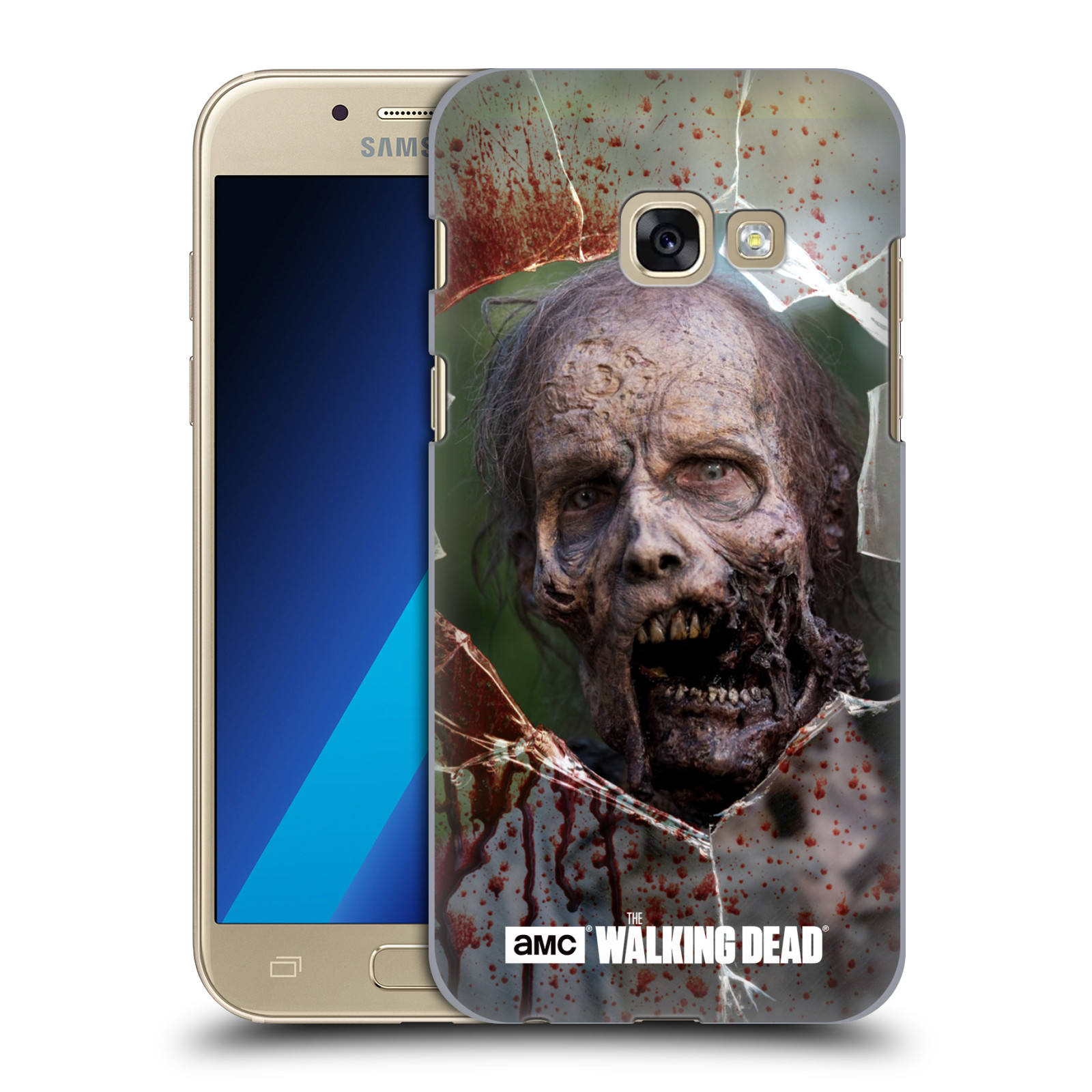 Plastové pouzdro na mobil Samsung Galaxy A3 (2017) HEAD CASE The Walking Dead - Walkers Jaw