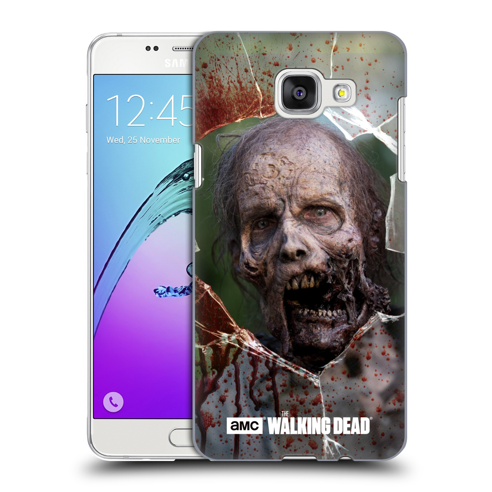Plastové pouzdro na mobil Samsung Galaxy A5 (2016) HEAD CASE The Walking Dead - Walkers Jaw