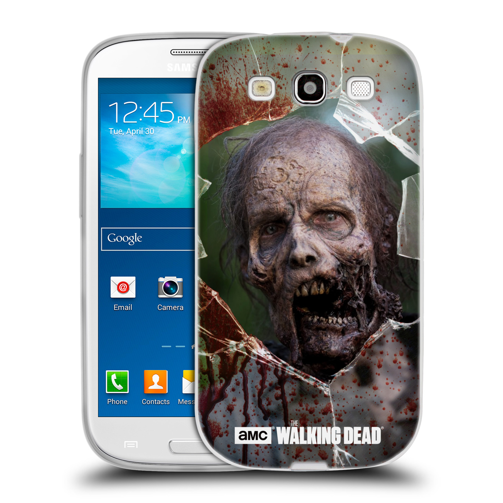 Silikonové pouzdro na mobil Samsung Galaxy S3 Neo HEAD CASE The Walking Dead - Walkers Jaw