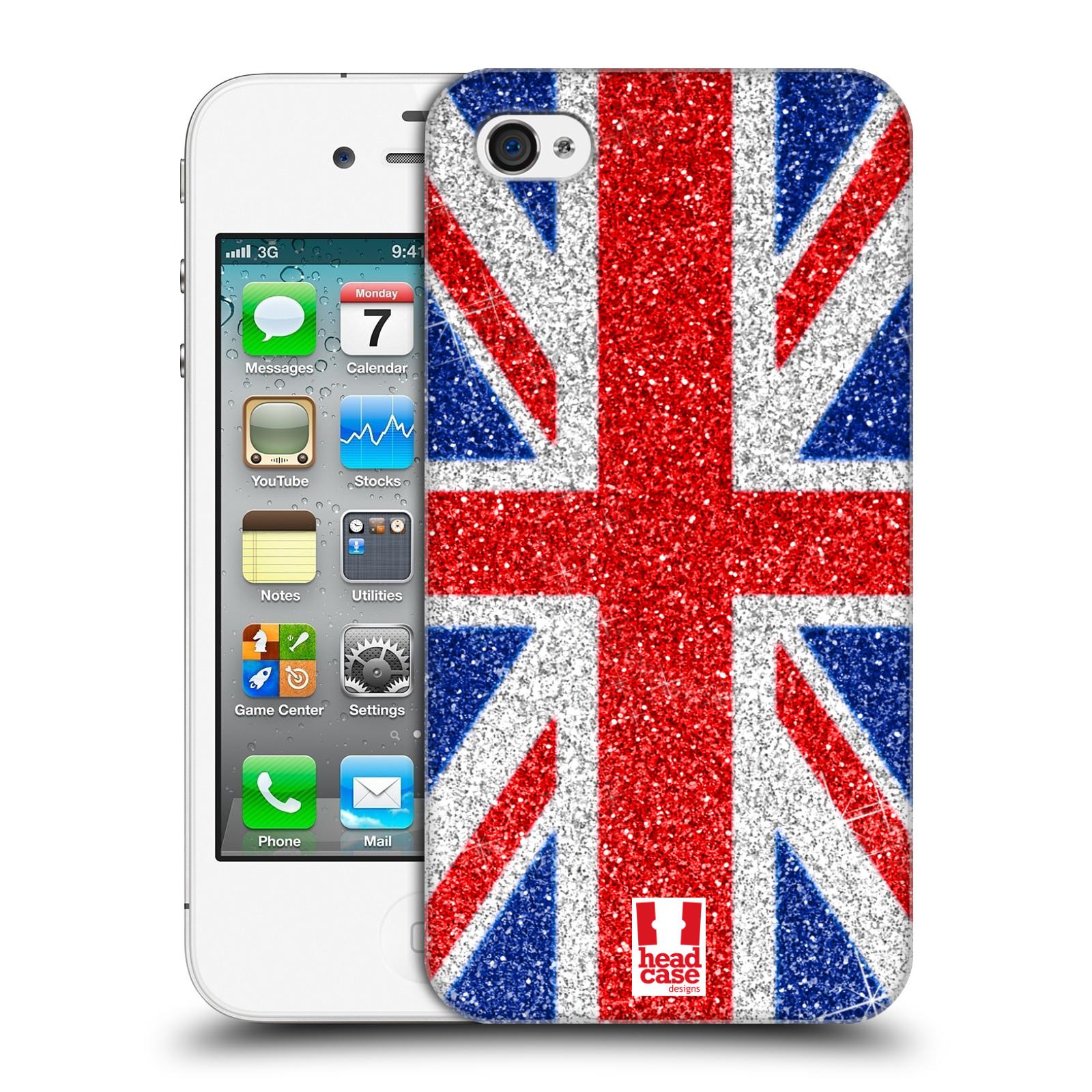 Plastové pouzdro na mobil Apple iPhone 4 a 4S HEAD CASE UNION GLITTER (Kryt či obal na mobilní telefon Apple iPhone 4 a 4S)