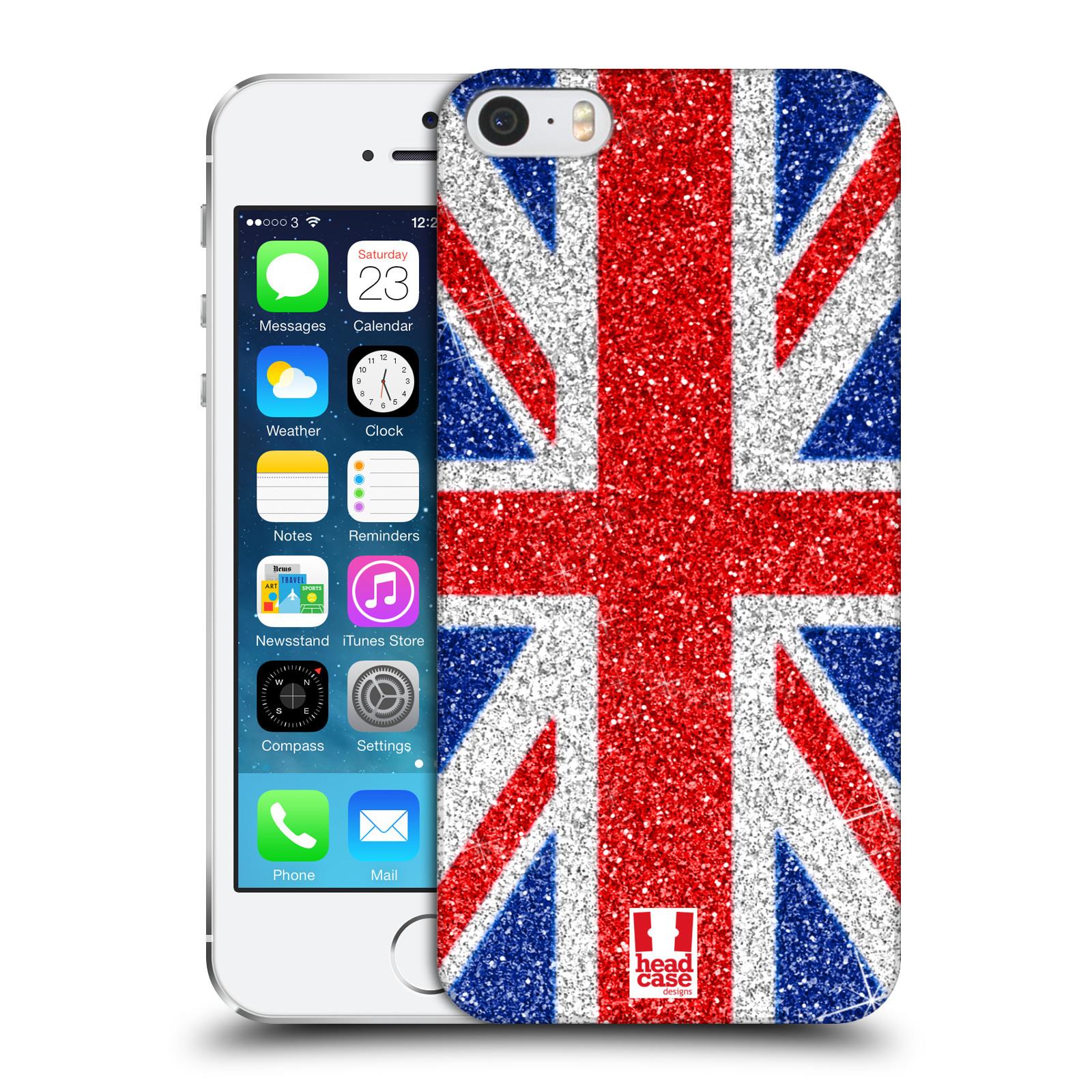 Plastové pouzdro na mobil Apple iPhone SE, 5 a 5S HEAD CASE UNION GLITTER (Kryt či obal na mobilní telefon Apple iPhone SE, 5 a 5S)