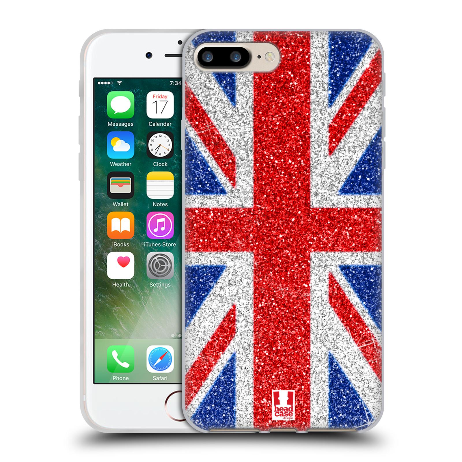 Silikonové pouzdro na mobil Apple iPhone 7 Plus HEAD CASE UNION GLITTER (Silikonový kryt či obal na mobilní telefon Apple iPhone 7 Plus)