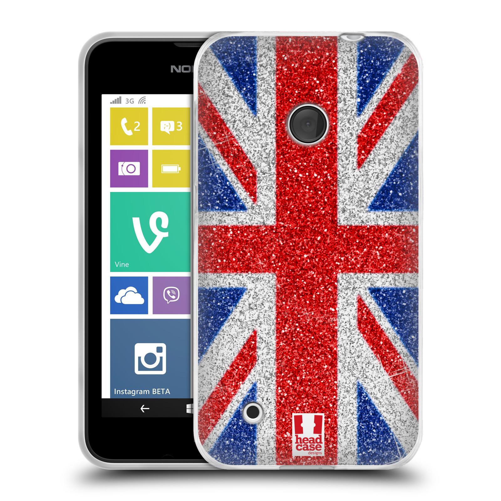 Silikonové pouzdro na mobil Nokia Lumia 530 HEAD CASE UNION GLITTER (Silikonový kryt či obal na mobilní telefon Nokia Lumia 530)