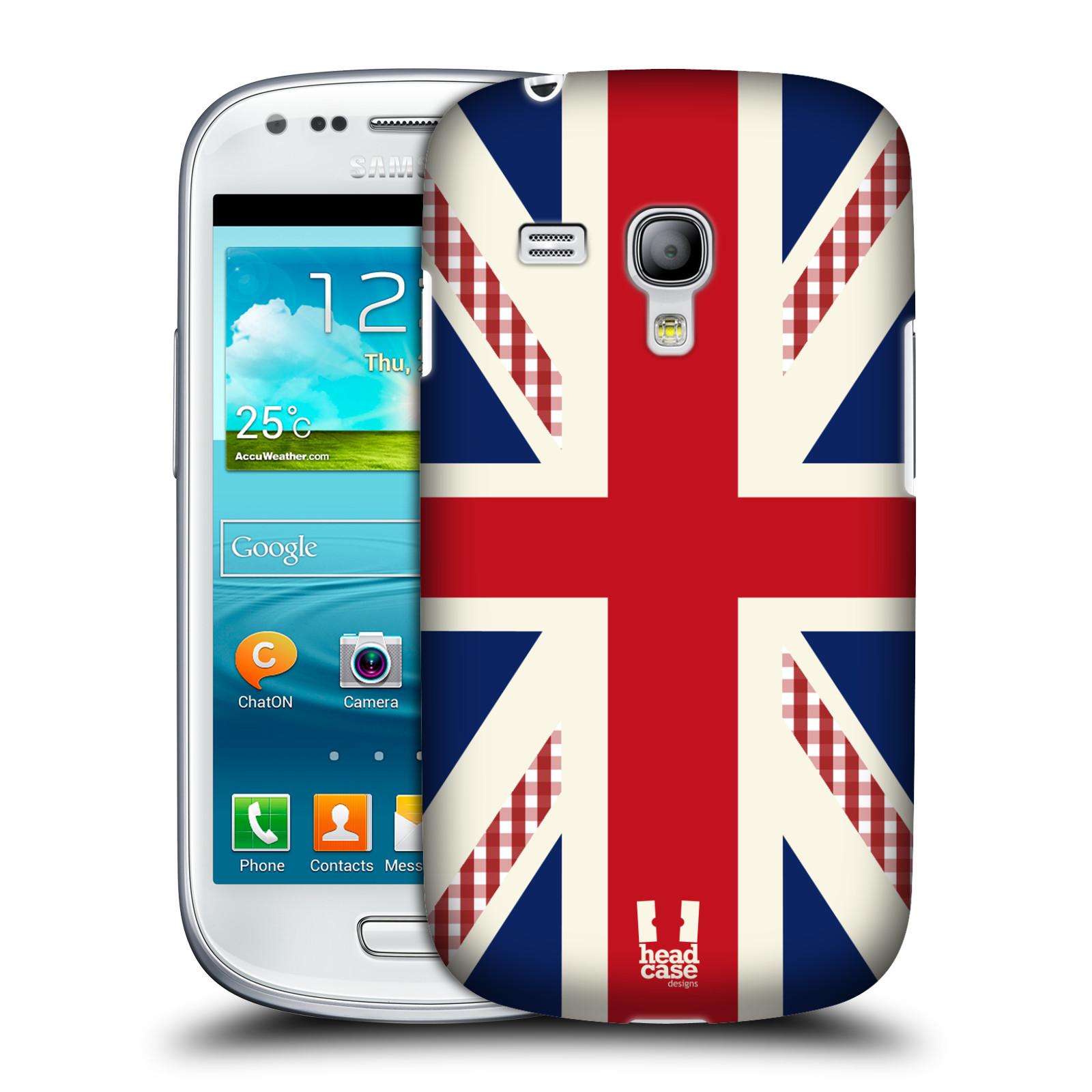 Plastové pouzdro na mobil Samsung Galaxy S3 Mini VE HEAD CASE UNION GINHGAM (Kryt či obal na mobilní telefon Samsung Galaxy S3 Mini VE GT-i8200)