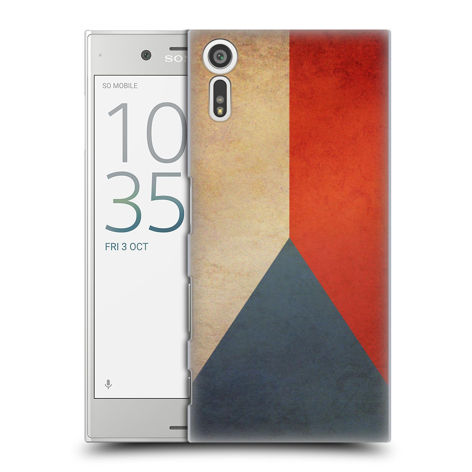 Plastové pouzdro na mobil Sony Xperia XZ - Head Case VLAJKA ČESKÁ REPUBLIKA