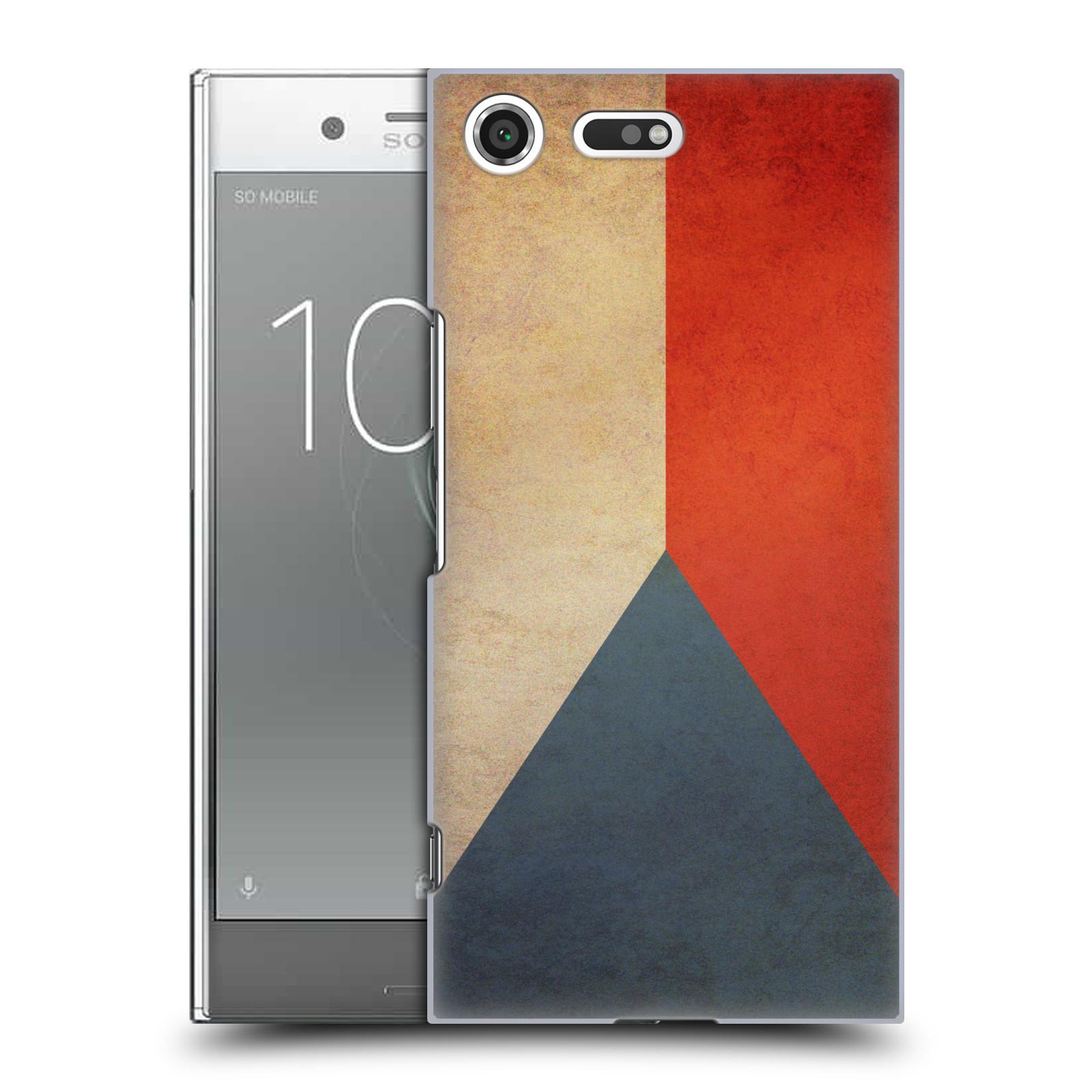 Plastové pouzdro na mobil Sony Xperia XZ Premium Head Case - VLAJKA ČESKÁ REPUBLIKA (Plastový kryt či obal na mobilní telefon Sony Xperia XZ Premium G8142)