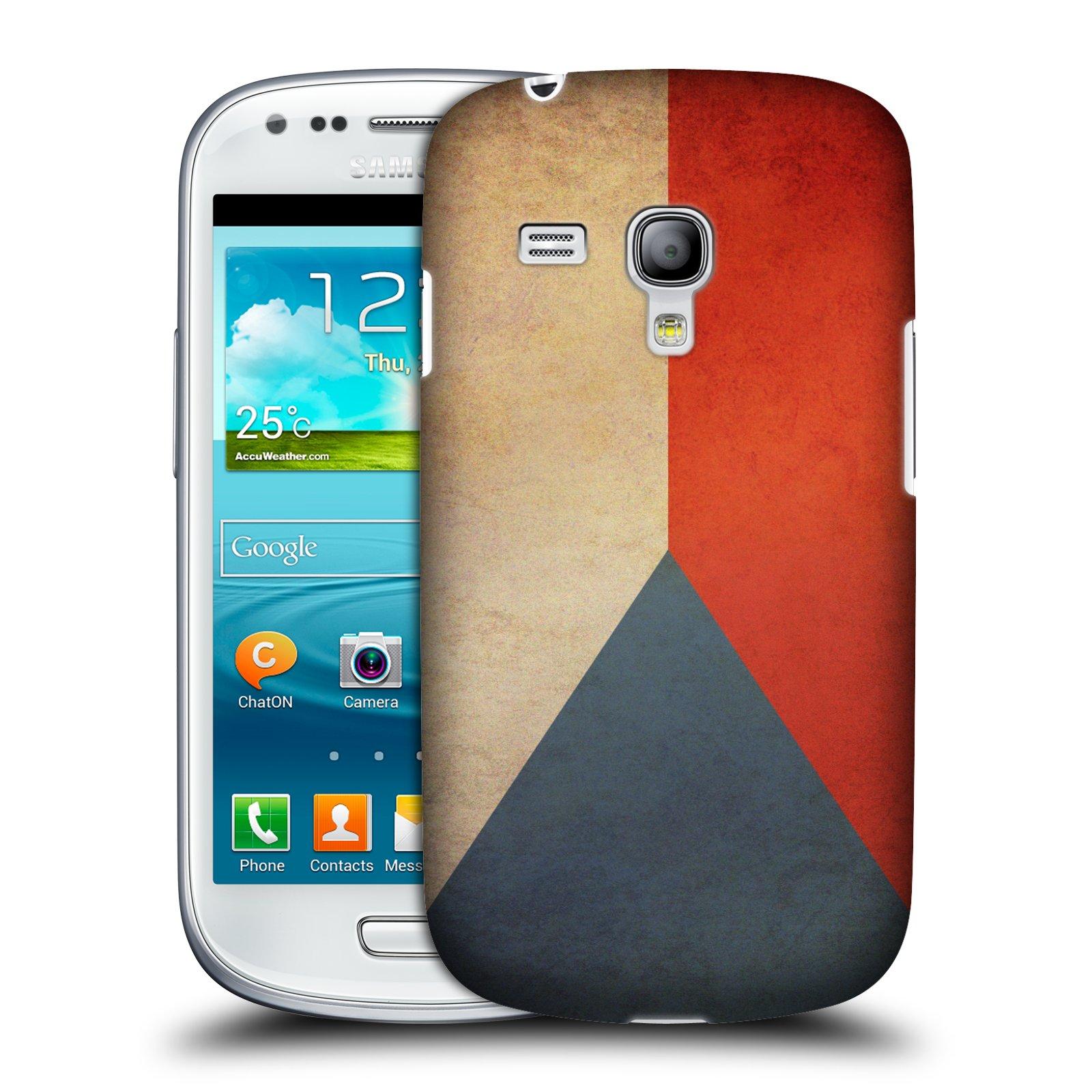 Plastové pouzdro na mobil Samsung Galaxy S3 Mini VE HEAD CASE VLAJKA ČESKÁ REPUBLIKA (Kryt či obal na mobilní telefon Samsung Galaxy S3 Mini VE GT-i8200)