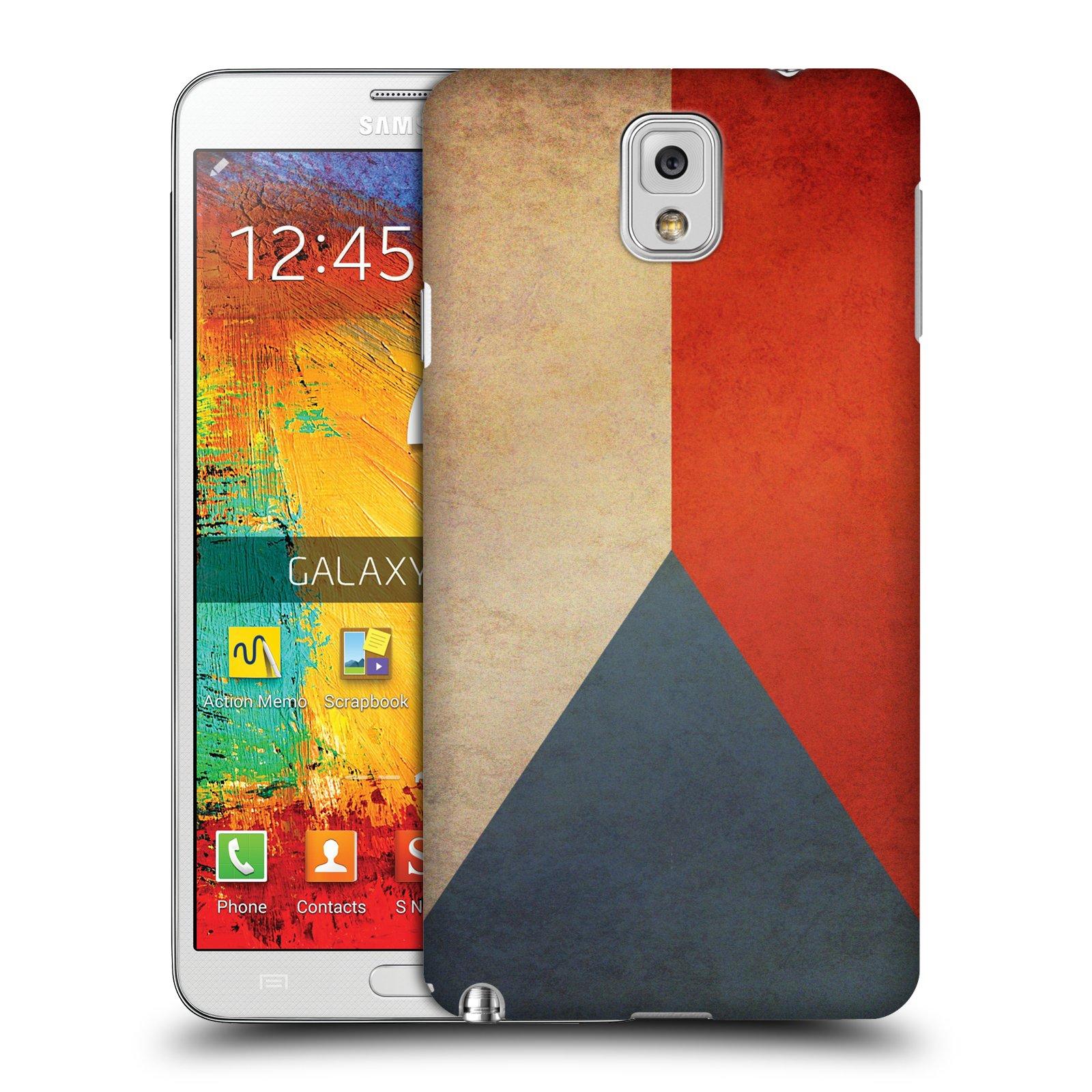 Plastové pouzdro na mobil Samsung Galaxy Note 3 HEAD CASE VLAJKA ČESKÁ REPUBLIKA