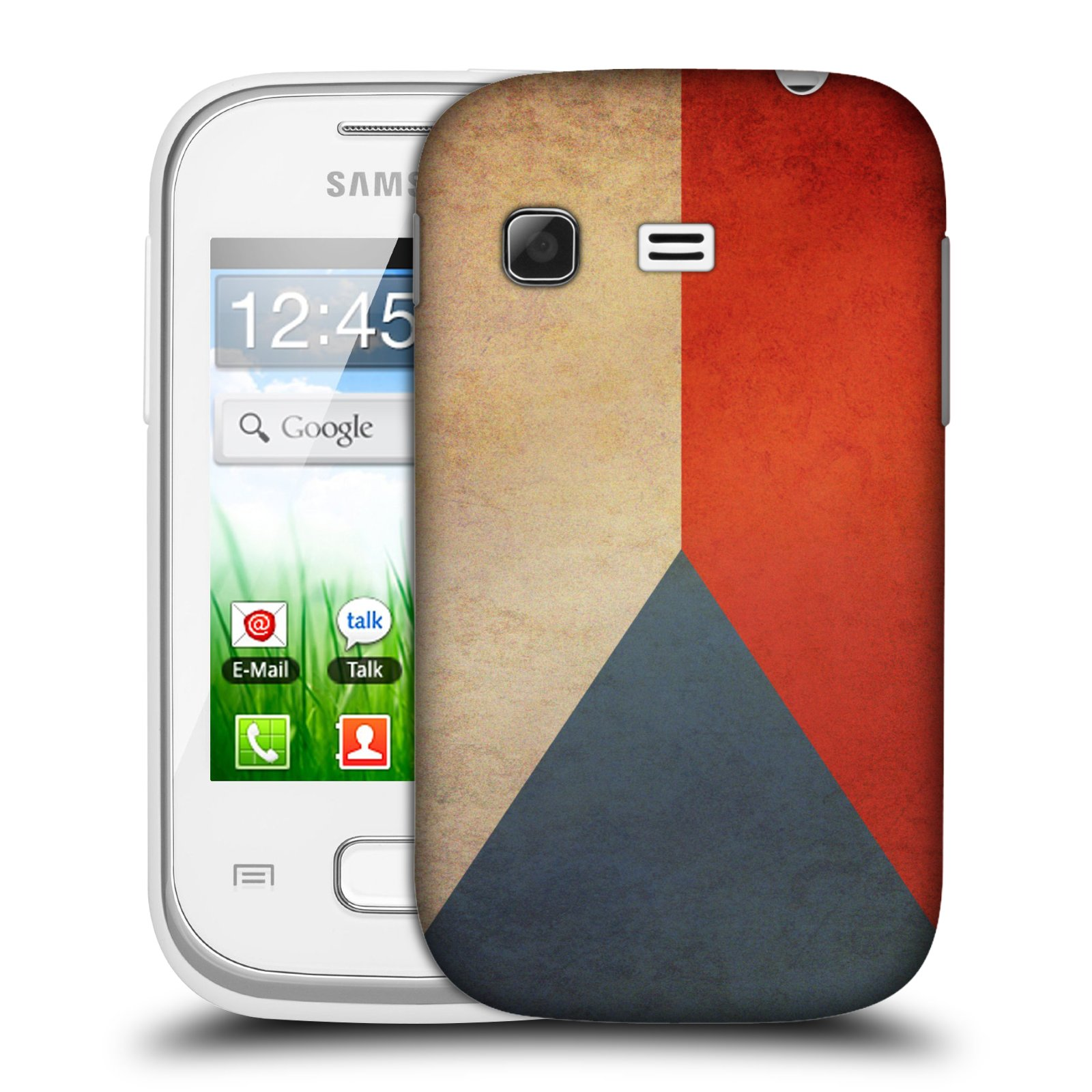 Plastové pouzdro na mobil Samsung Galaxy Pocket HEAD CASE VLAJKA ČESKÁ REPUBLIKA (Kryt či obal na mobilní telefon Samsung Galaxy Pocket GT-S5300)