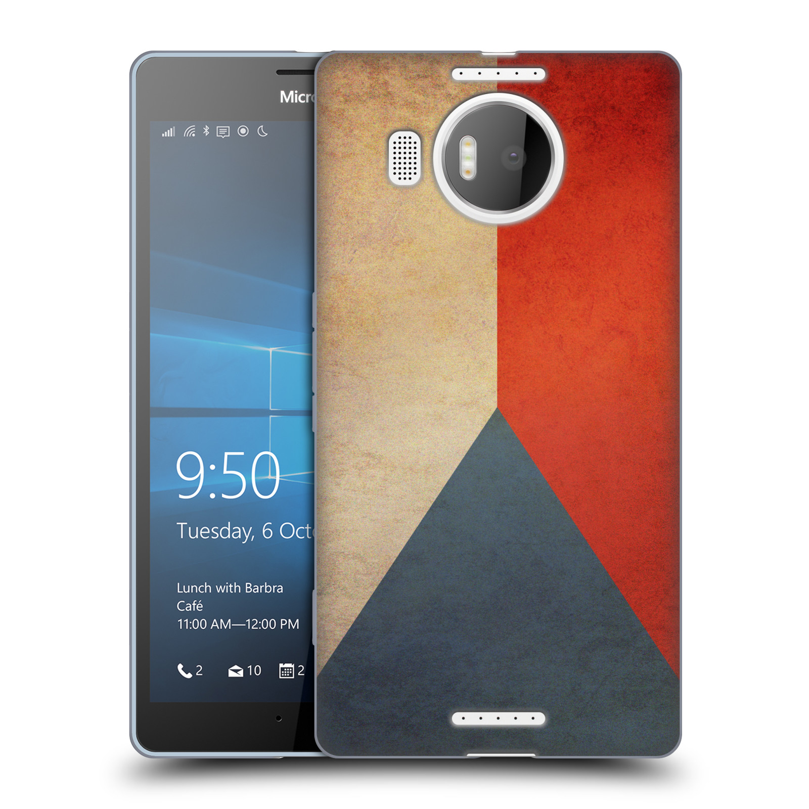 Silikonové pouzdro na mobil Microsoft Lumia 950 XL HEAD CASE VLAJKA ČESKÁ REPUBLIKA