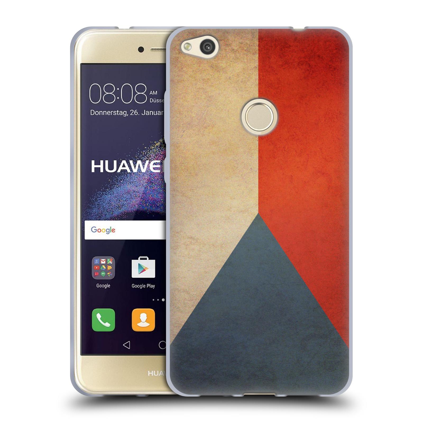 Silikonové pouzdro na mobil Huawei P9 Lite (2017) HEAD CASE VLAJKA ČESKÁ REPUBLIKA