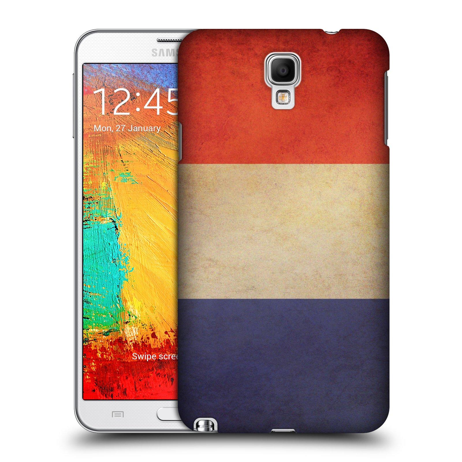 Plastové pouzdro na mobil Samsung Galaxy Note 3 Neo HEAD CASE VLAJKA FRANCIE (Kryt či obal na mobilní telefon Samsung Galaxy Note 3 Neo SM-N7505)