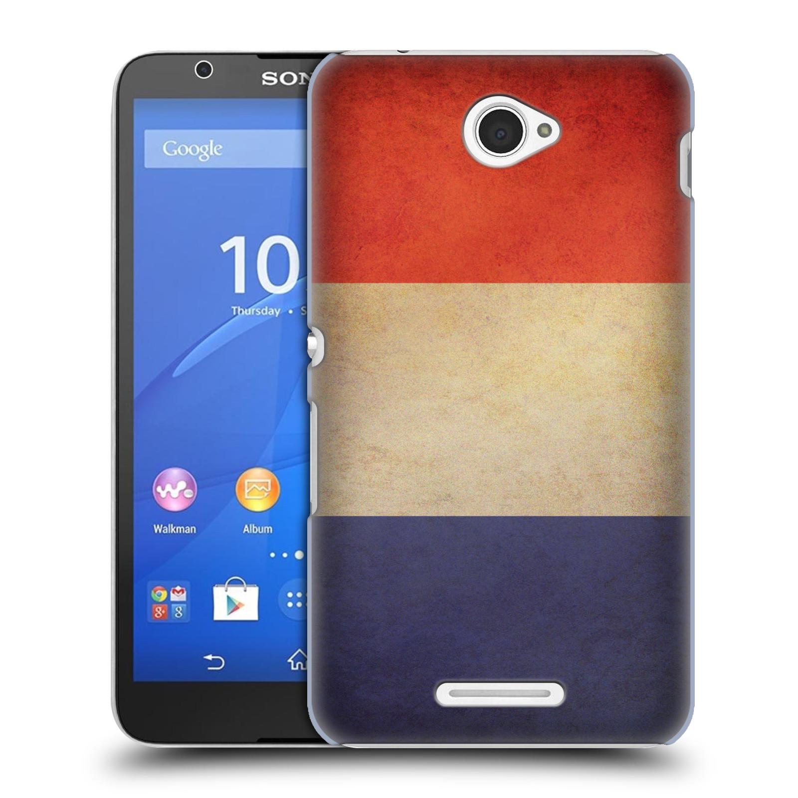 Plastové pouzdro na mobil Sony Xperia E4 E2105 HEAD CASE VLAJKA FRANCIE (Kryt či obal na mobilní telefon Sony Xperia E4 a E4 Dual SIM)