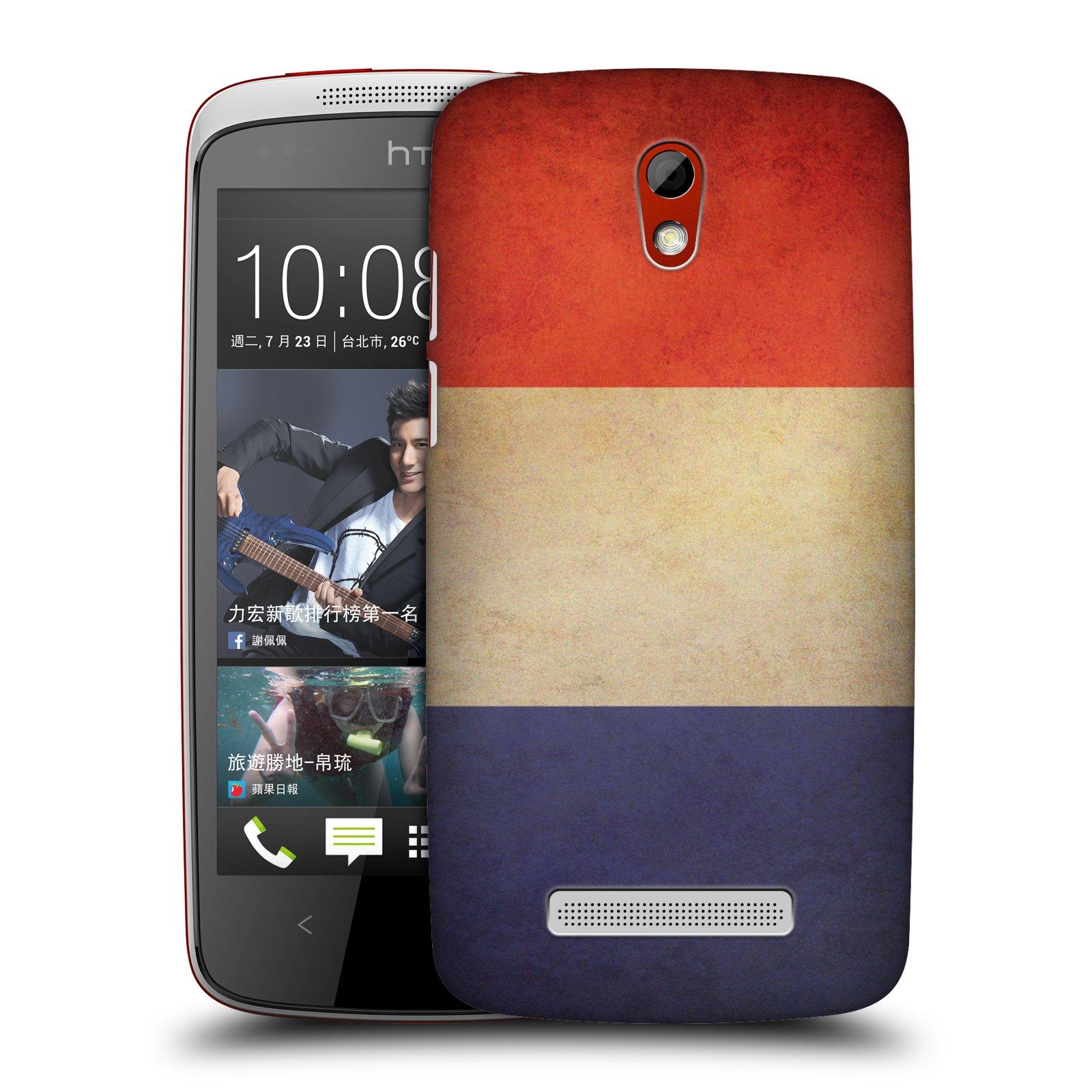 Plastové pouzdro na mobil HTC Desire 500 HEAD CASE VLAJKA FRANCIE (Kryt či obal na mobilní telefon HTC Desire 500)