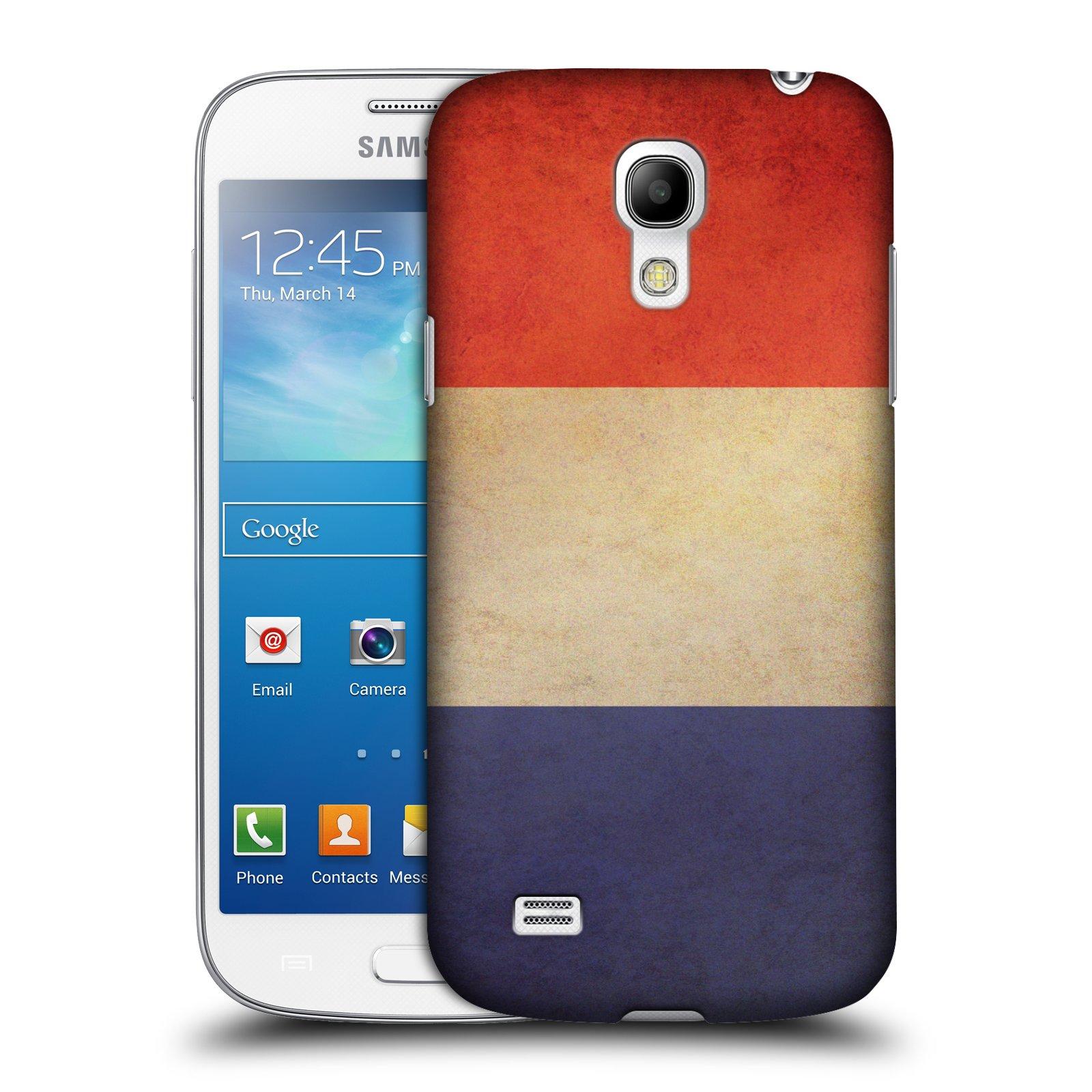 Plastové pouzdro na mobil Samsung Galaxy S4 Mini VE HEAD CASE VLAJKA FRANCIE (Kryt či obal na mobilní telefon Samsung Galaxy S4 Mini VE GT-i9195i)
