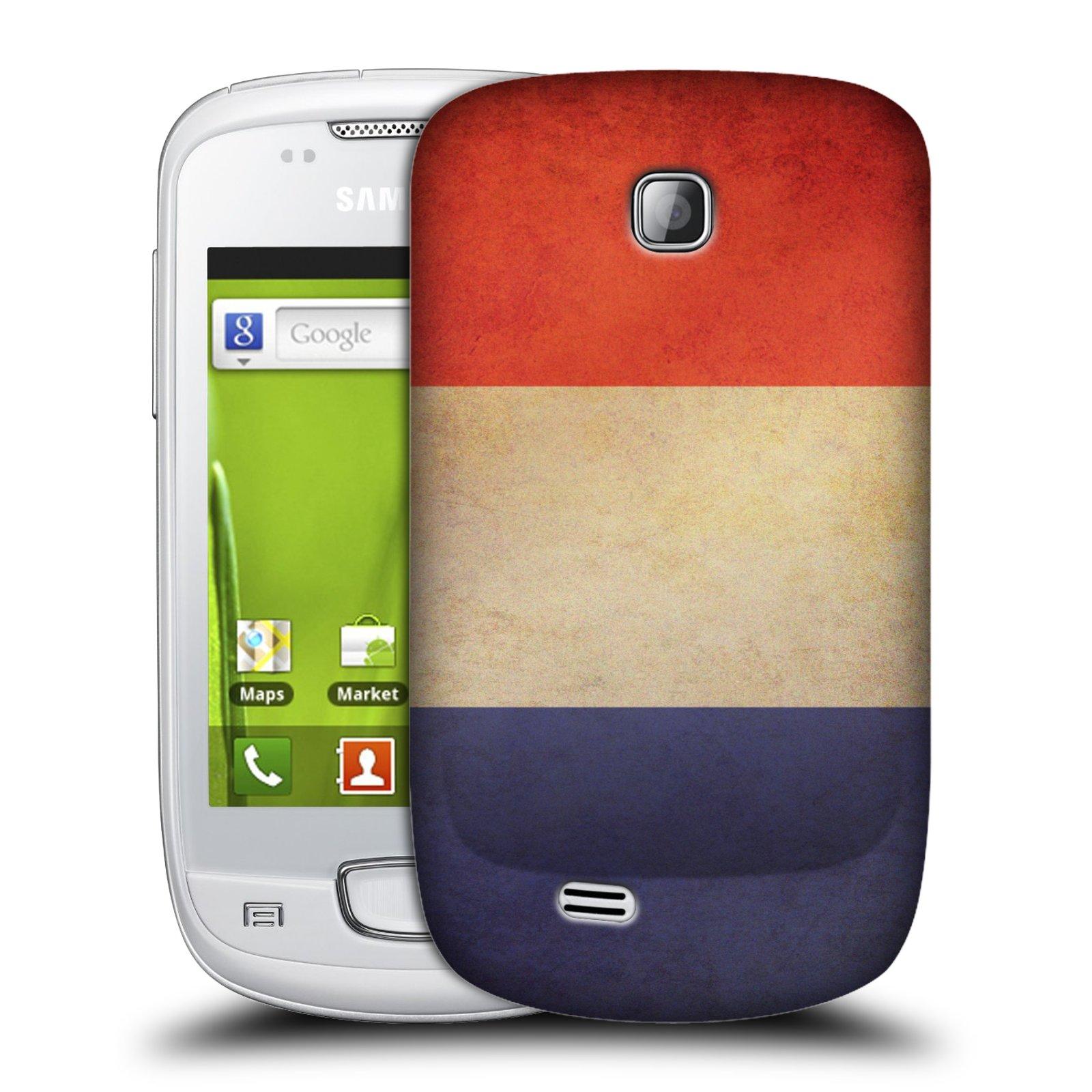 Plastové pouzdro na mobil Samsung Galaxy Mini HEAD CASE VLAJKA FRANCIE (Kryt či obal na mobilní telefon Samsung Galaxy Mini GT-S5570 / GT-S5570i)