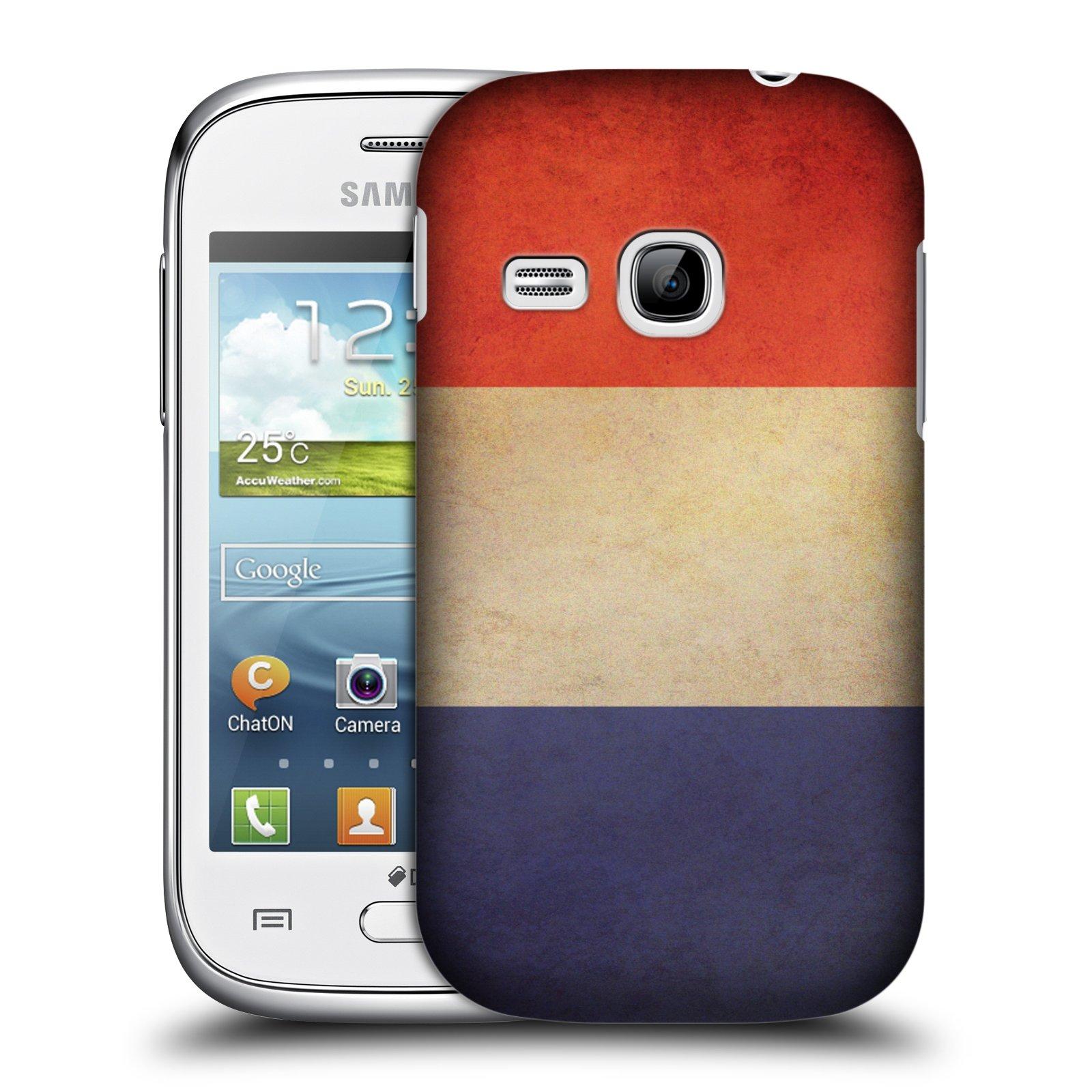 Plastové pouzdro na mobil Samsung Galaxy Young HEAD CASE VLAJKA FRANCIE (Kryt či obal na mobilní telefon Samsung Galaxy Young GT-S6310)