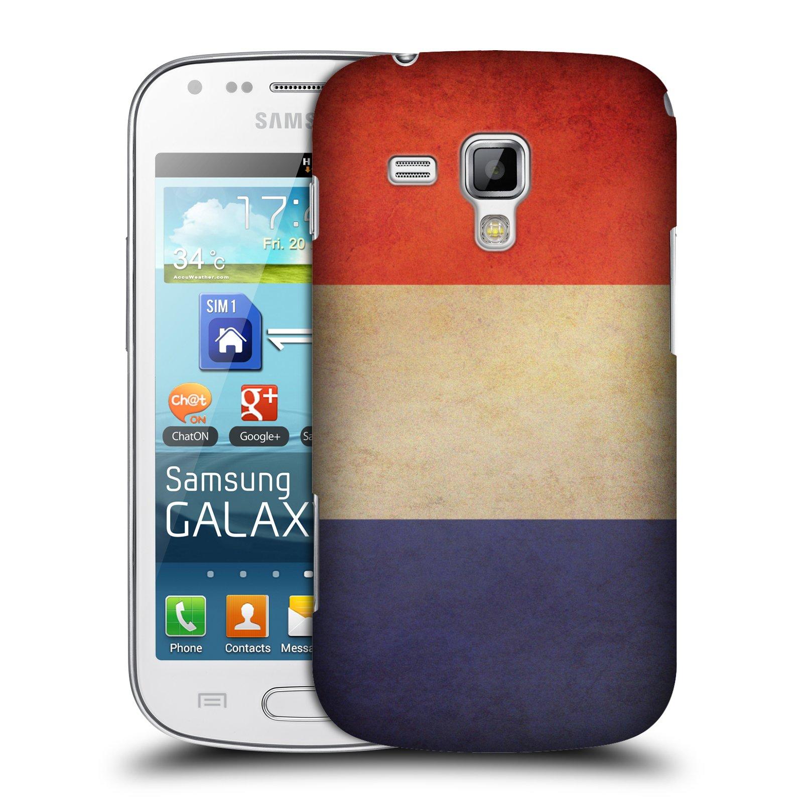 Plastové pouzdro na mobil Samsung Galaxy S Duos HEAD CASE VLAJKA FRANCIE (Kryt či obal na mobilní telefon Samsung Galaxy S Duos GT-S7562)