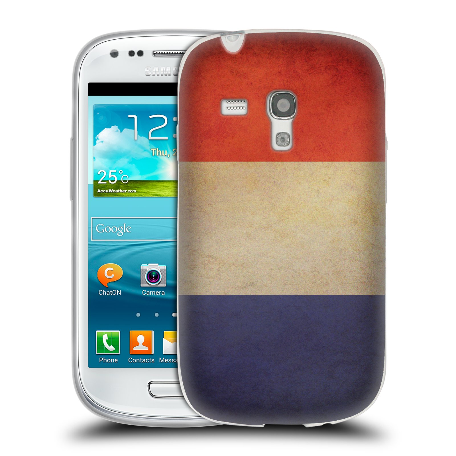 Silikonové pouzdro na mobil Samsung Galaxy S3 Mini VE HEAD CASE VLAJKA FRANCIE (Silikonový kryt či obal na mobilní telefon Samsung Galaxy S3 Mini VE GT-i8200)