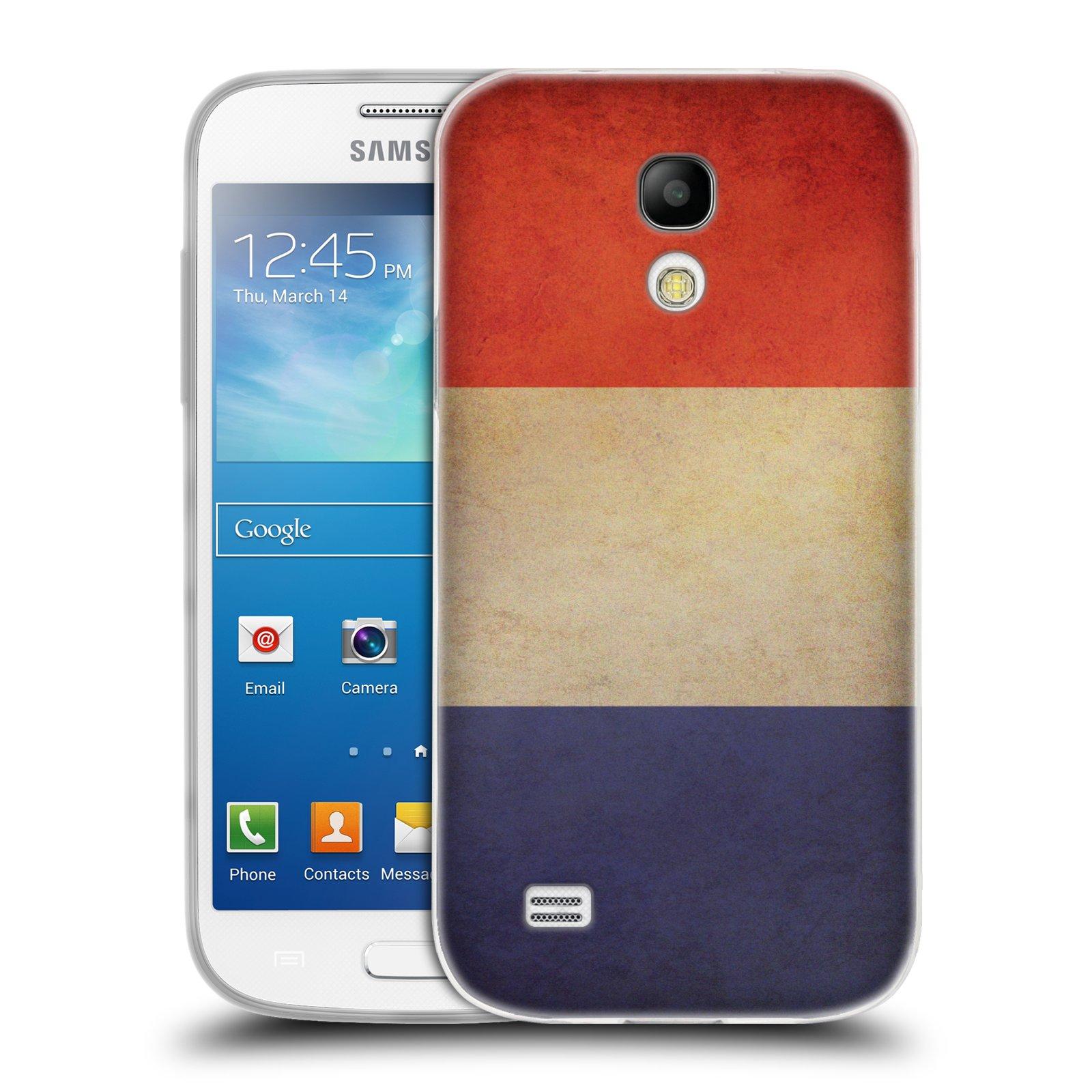 Silikonové pouzdro na mobil Samsung Galaxy S4 Mini HEAD CASE VLAJKA FRANCIE (Silikonový kryt či obal na mobilní telefon Samsung Galaxy S4 Mini GT-i9195 / i9190)