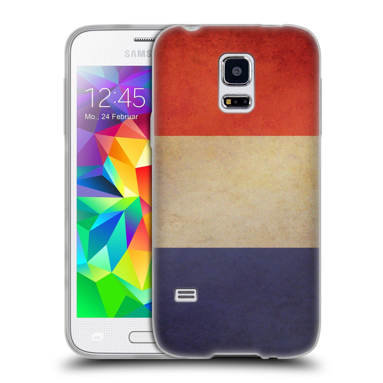 Silikonové pouzdro na mobil Samsung Galaxy S5 Mini HEAD CASE VLAJKA FRANCIE (Silikonový kryt či obal na mobilní telefon Samsung Galaxy S5 Mini SM-G800F)
