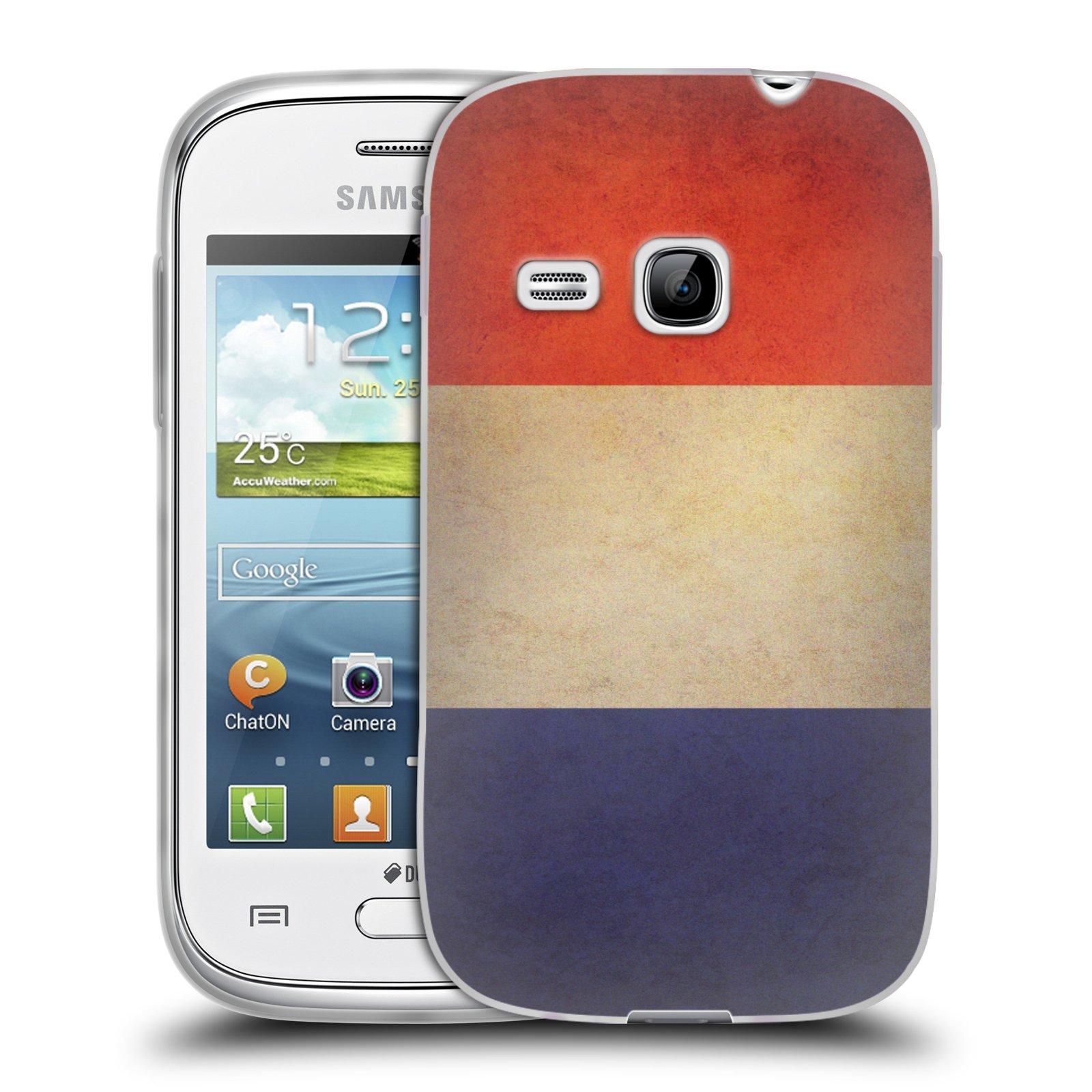 Silikonové pouzdro na mobil Samsung Galaxy Young HEAD CASE VLAJKA FRANCIE (Silikonový kryt či obal na mobilní telefon Samsung Galaxy Young GT-S6310)