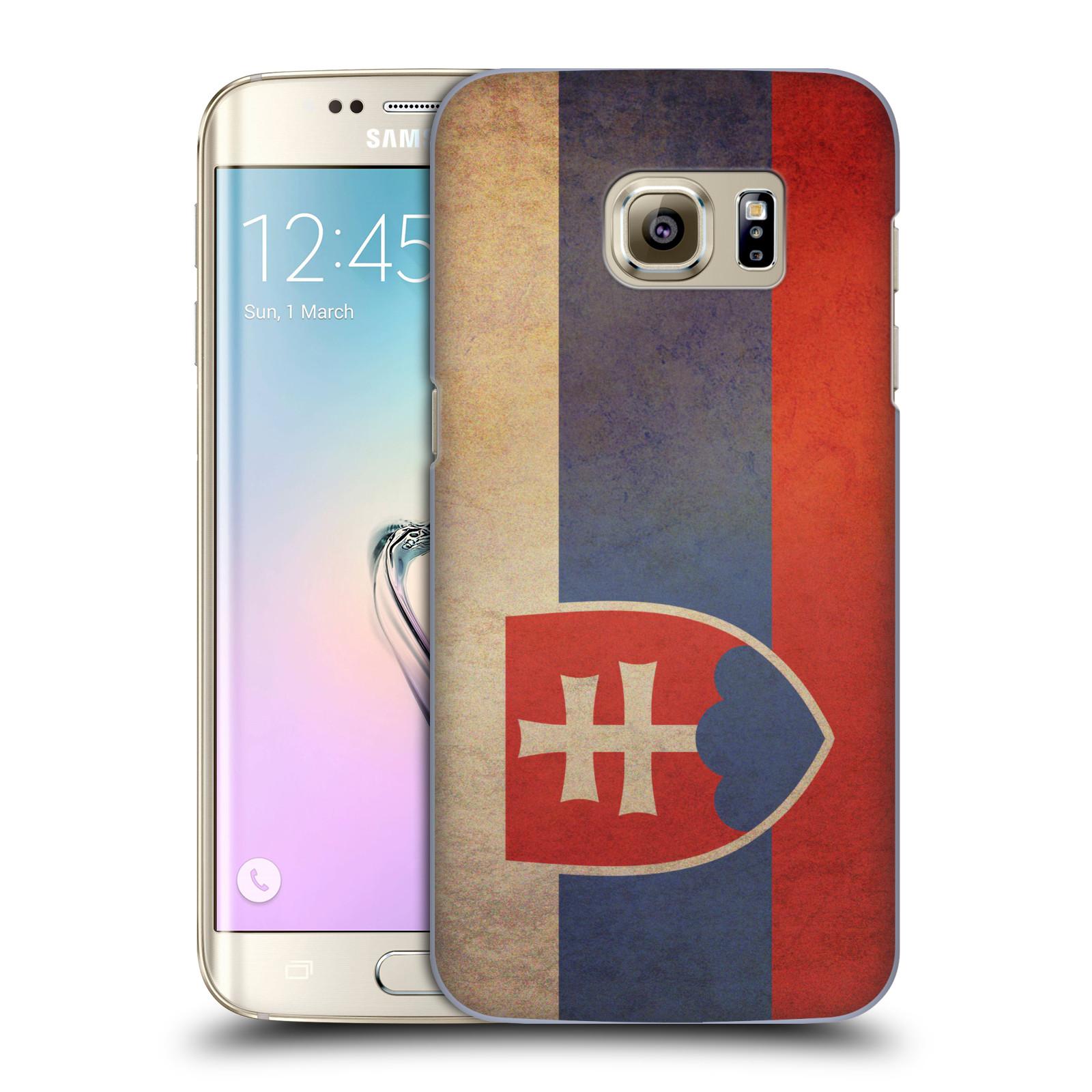 Plastové pouzdro na mobil Samsung Galaxy S7 Edge HEAD CASE VLAJKA SLOVENSKO (Kryt či obal na mobilní telefon Samsung Galaxy S7 Edge SM-G935F)