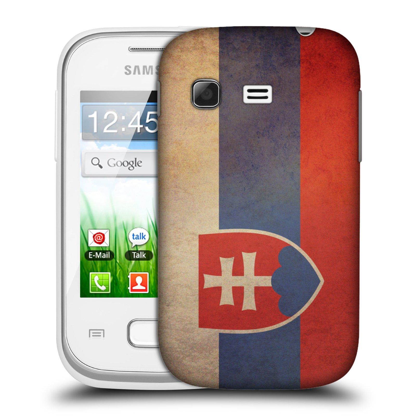 Plastové pouzdro na mobil Samsung Galaxy Pocket HEAD CASE VLAJKA SLOVENSKO (Kryt či obal na mobilní telefon Samsung Galaxy Pocket GT-S5300)