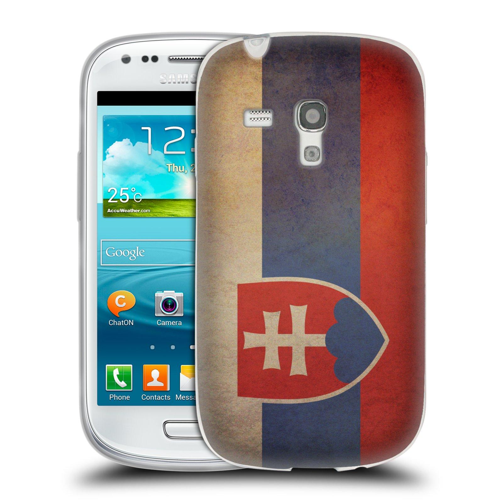 Silikonové pouzdro na mobil Samsung Galaxy S III Mini HEAD CASE VLAJKA SLOVENSKO (Silikonový kryt či obal na mobilní telefon Samsung Galaxy S III Mini GT-i8190)