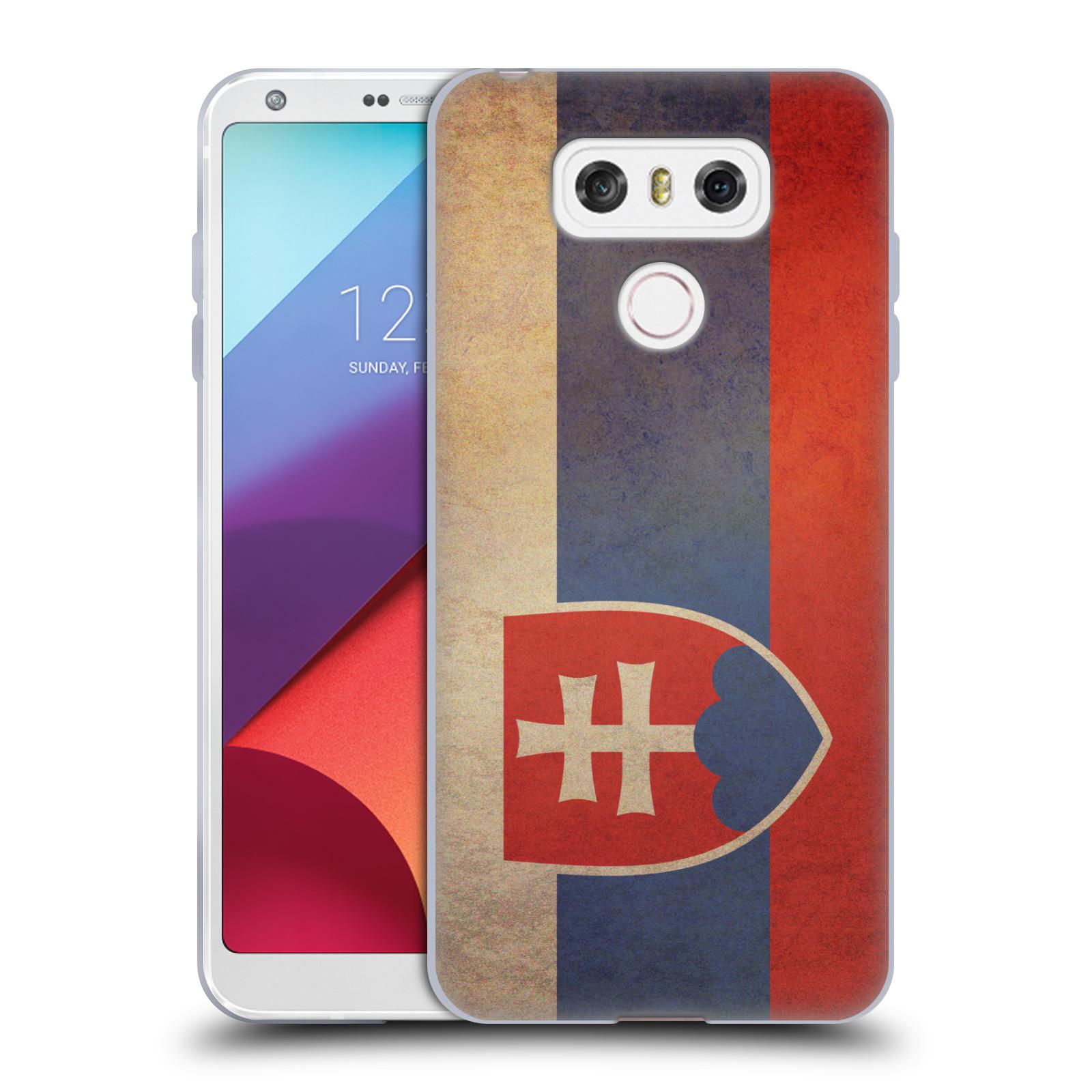 Silikonové pouzdro na mobil LG G6 - Head Case VLAJKA SLOVENSKO (Silikonový kryt či obal na mobilní telefon LG G6 H870 / LG G6 Dual SIM H870DS)