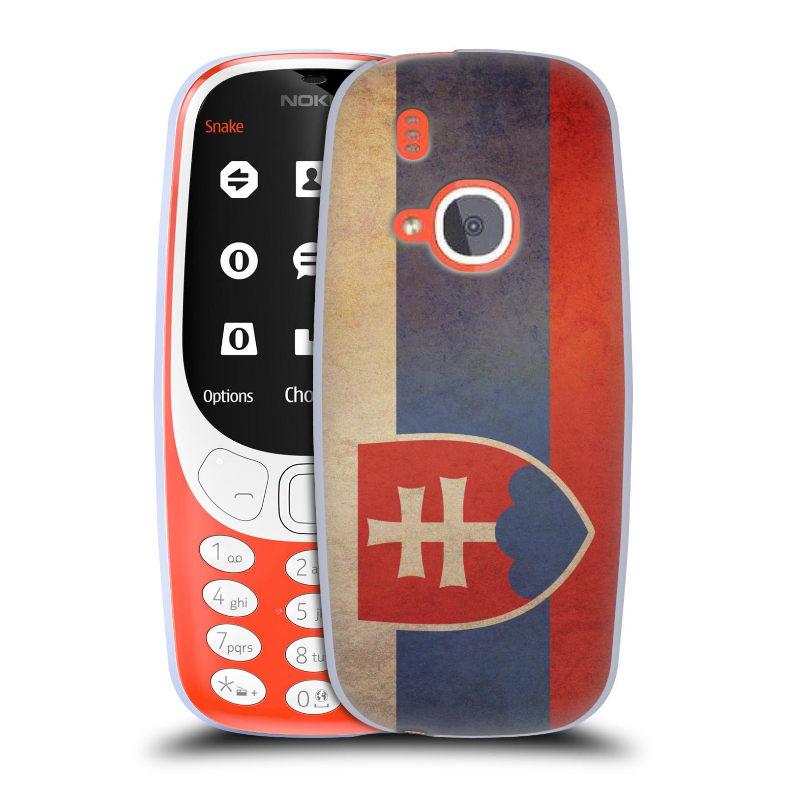 Silikonové pouzdro na mobil Nokia 3310 - Head Case - VLAJKA SLOVENSKO