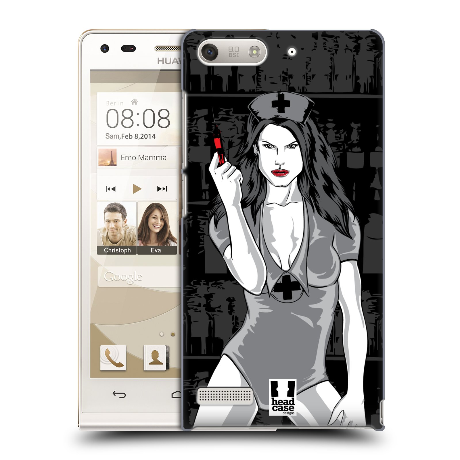 Plastové pouzdro na mobil Huawei Ascend G6 HEAD CASE TESSA (Kryt či obal na mobilní telefon Huawei Ascend G6 bez LTE)