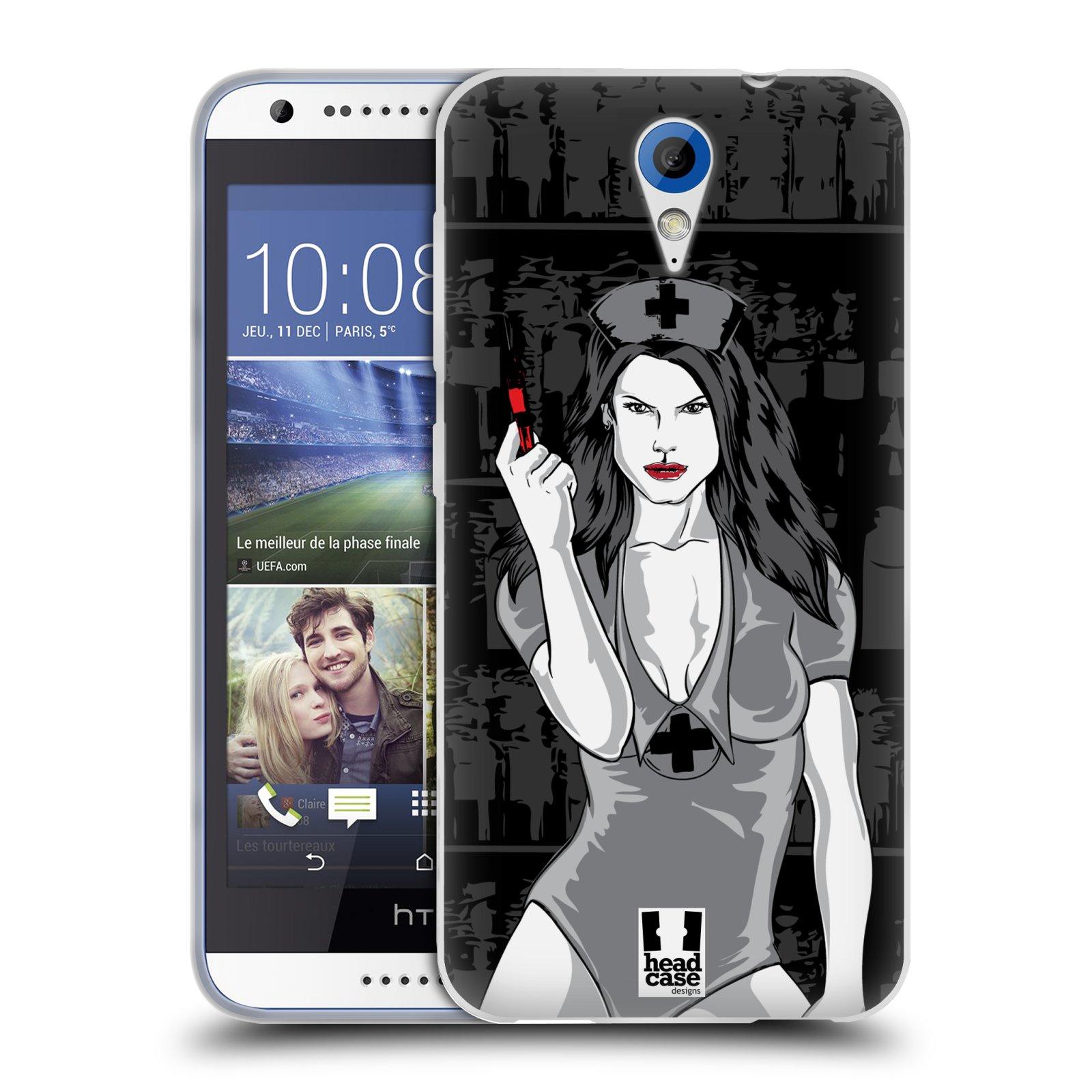 Silikonové pouzdro na mobil HTC Desire 620 HEAD CASE TESSA (Silikonový kryt či obal na mobilní telefon HTC Desire 620)