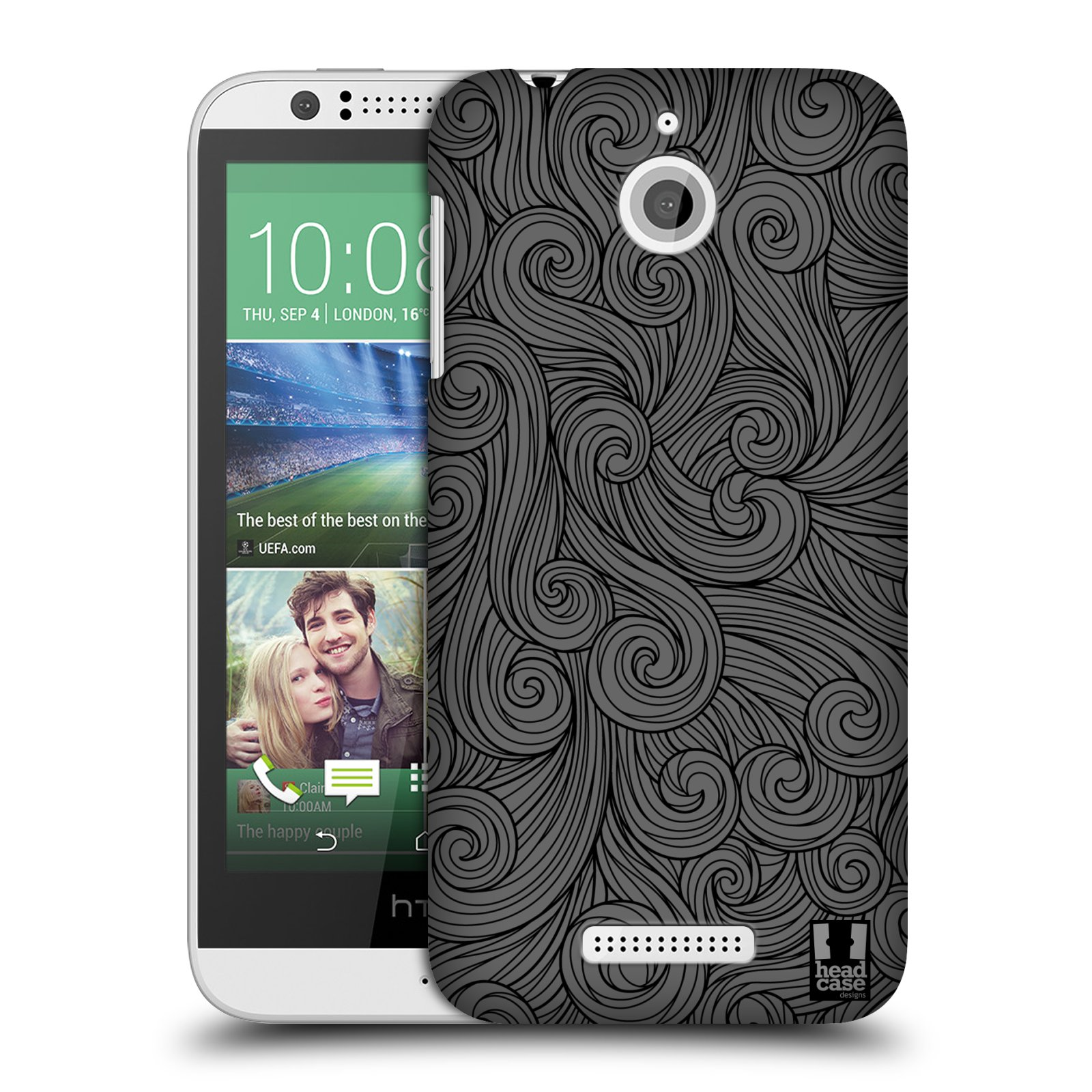 Plastové pouzdro na mobil HTC Desire 510 HEAD CASE Dark Grey Swirls (Kryt či obal na mobilní telefon HTC Desire 510)