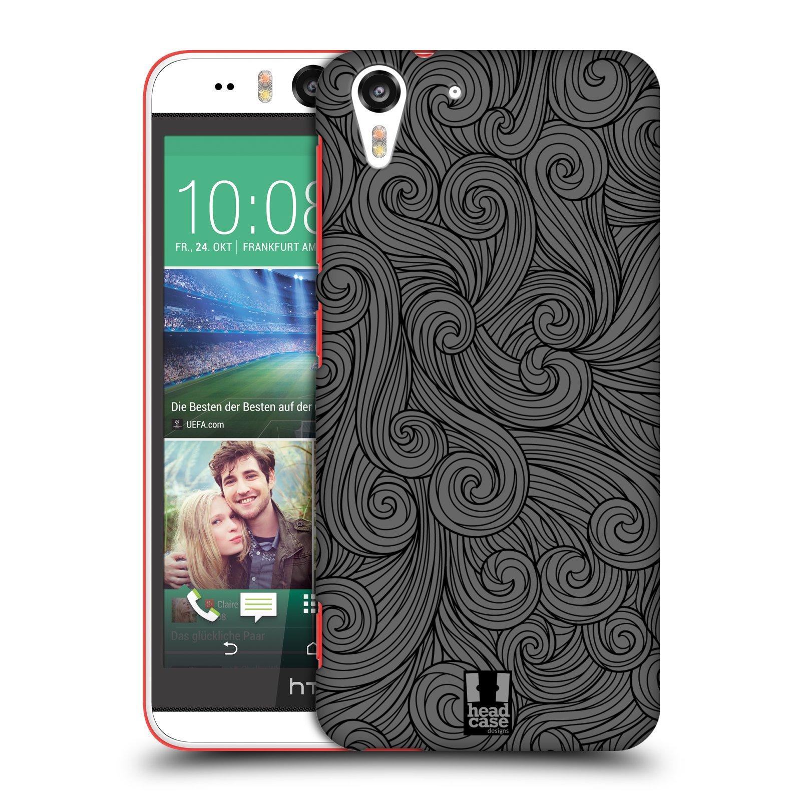 Plastové pouzdro na mobil HTC Desire EYE HEAD CASE Dark Grey Swirls (Kryt či obal na mobilní telefon HTC Desire EYE)