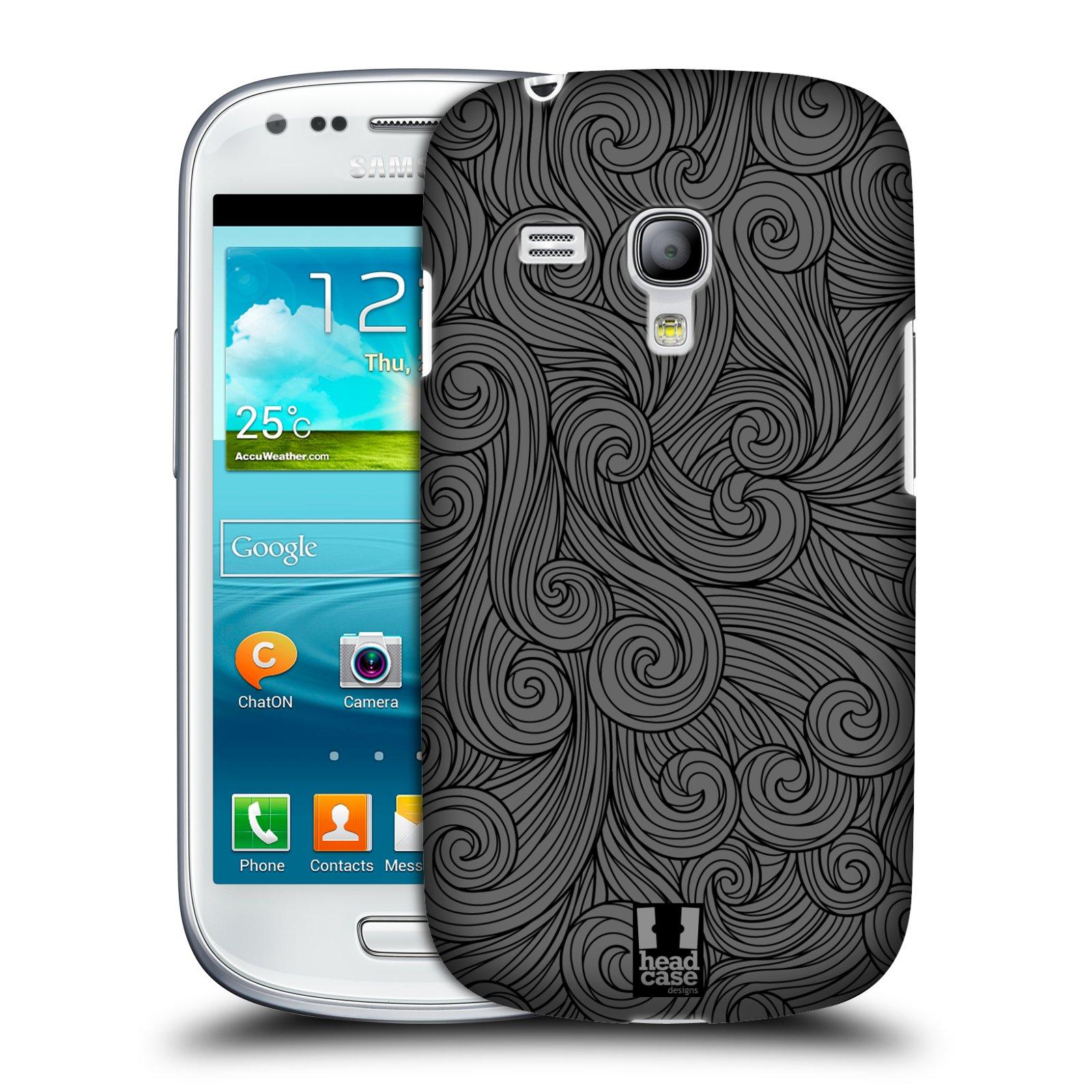 Plastové pouzdro na mobil Samsung Galaxy S III Mini HEAD CASE Dark Grey Swirls (Kryt či obal na mobilní telefon Samsung Galaxy S III Mini GT-i8190)