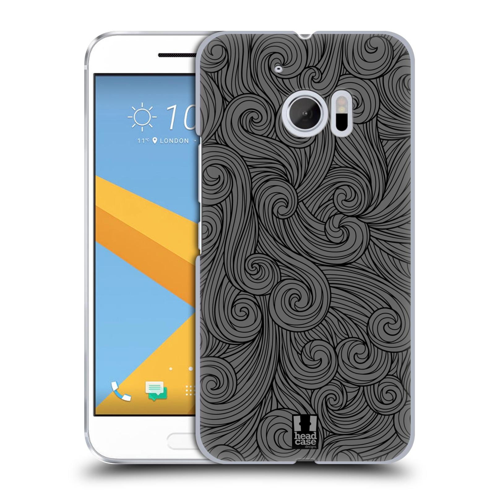 Plastové pouzdro na mobil HTC One 10 - Head Case - Dark Grey Swirls (Plastový kryt či obal na mobilní telefon HTC One 10 (M10))