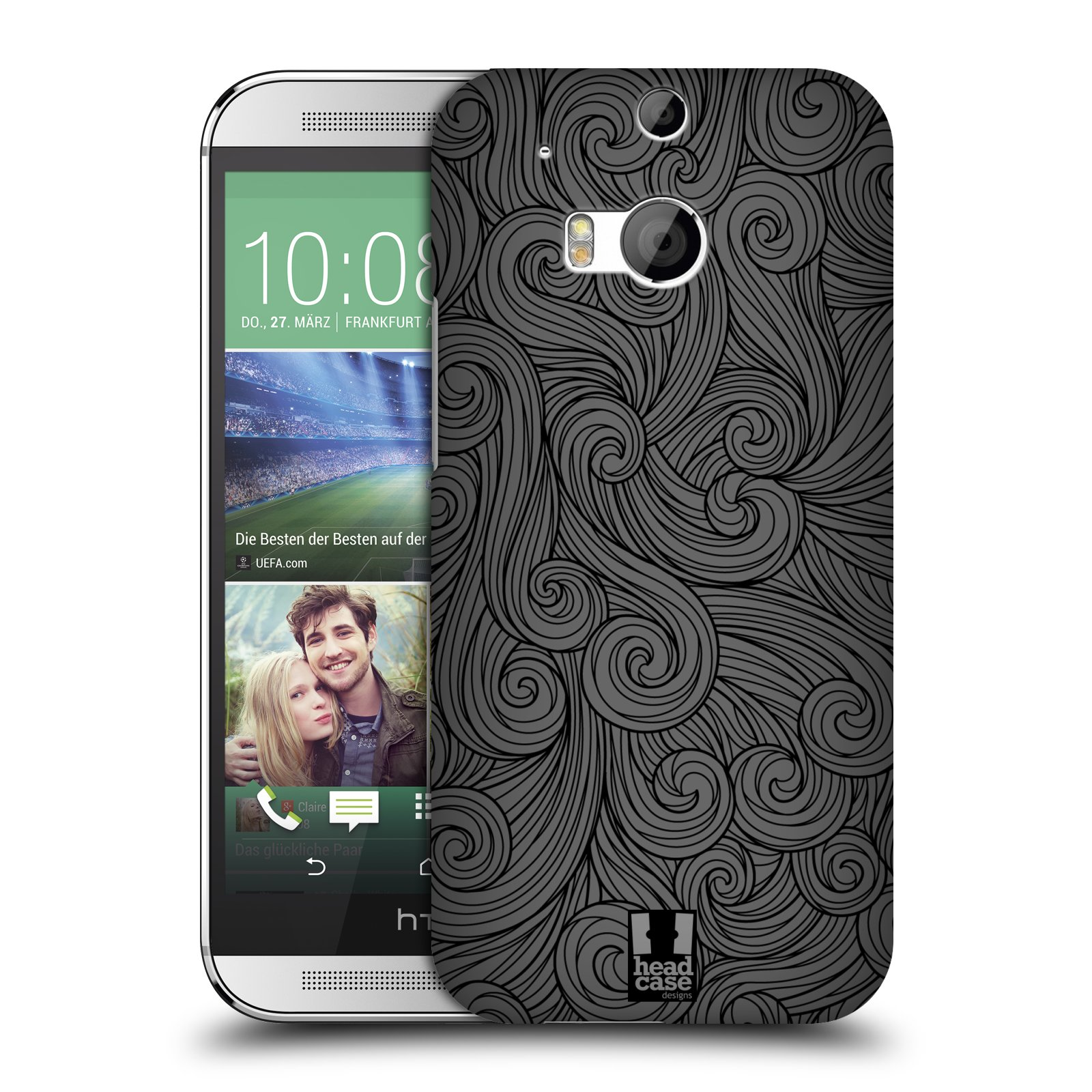 Plastové pouzdro na mobil HTC ONE M8 HEAD CASE Dark Grey Swirls (Kryt či obal na mobilní telefon HTC ONE M8)