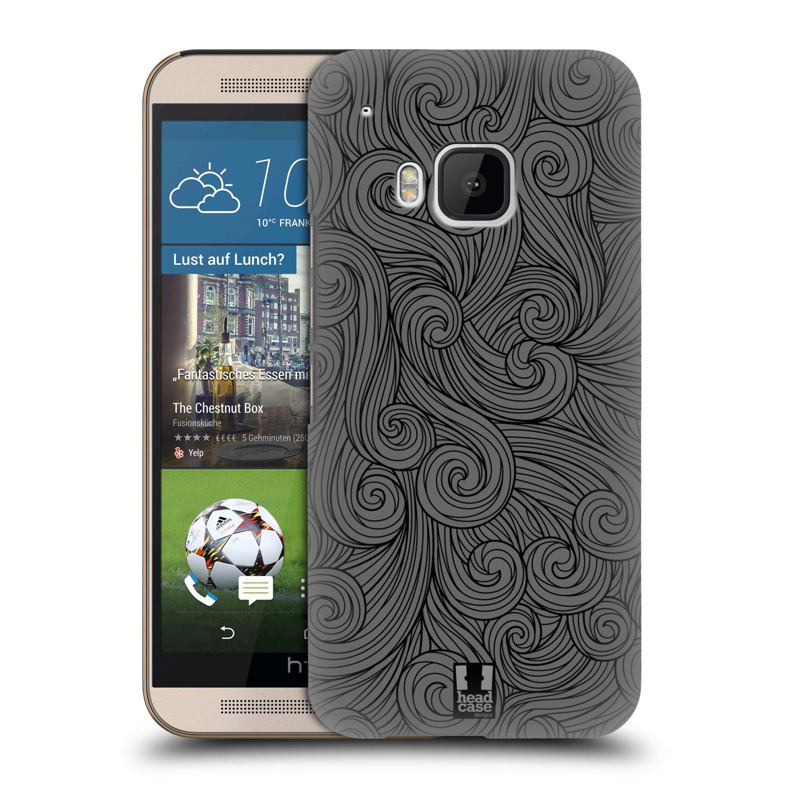Plastové pouzdro na mobil HTC ONE M9 HEAD CASE Dark Grey Swirls (Kryt či obal na mobilní telefon HTC ONE M9)