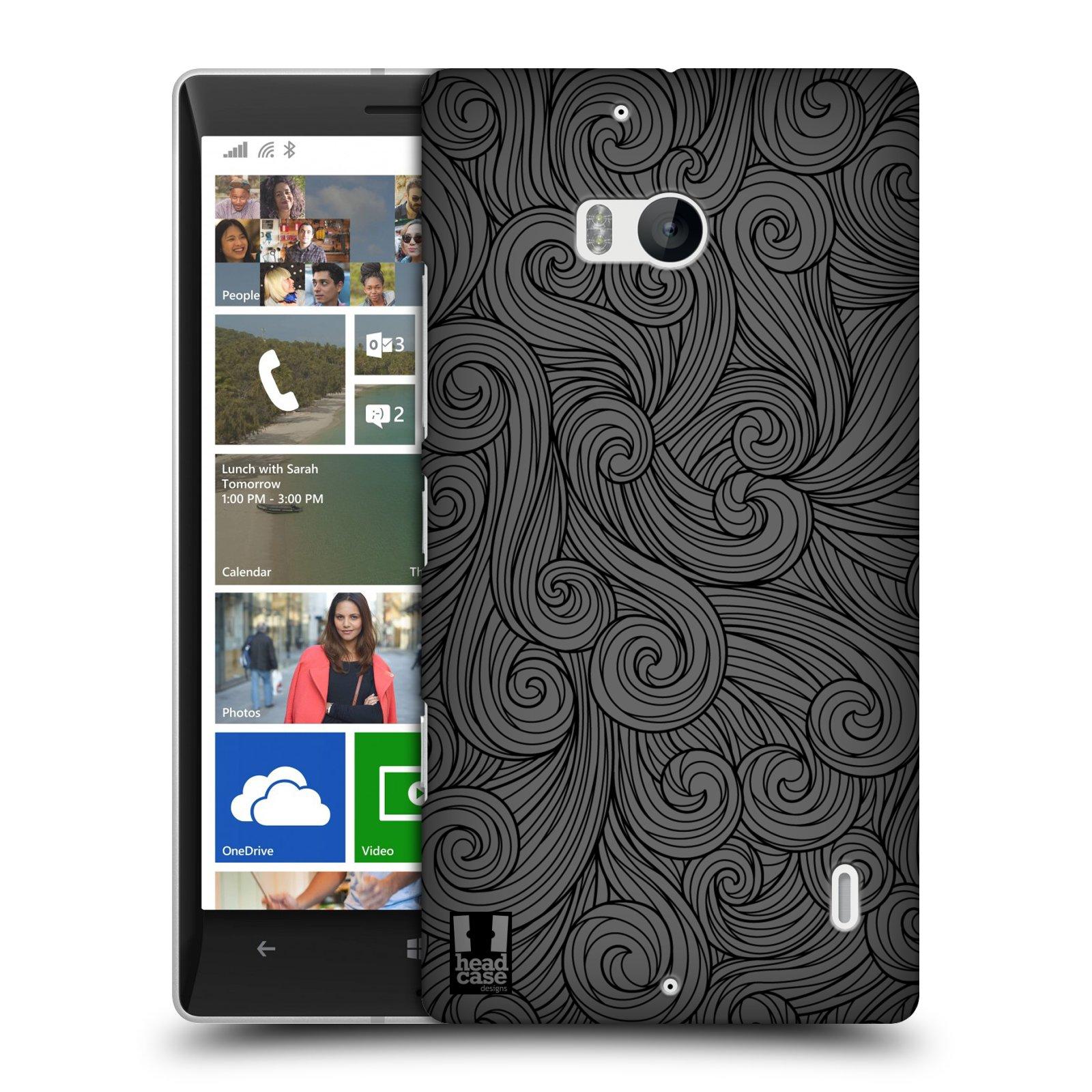 Plastové pouzdro na mobil Nokia Lumia 930 HEAD CASE Dark Grey Swirls (Kryt či obal na mobilní telefon Nokia Lumia 930)