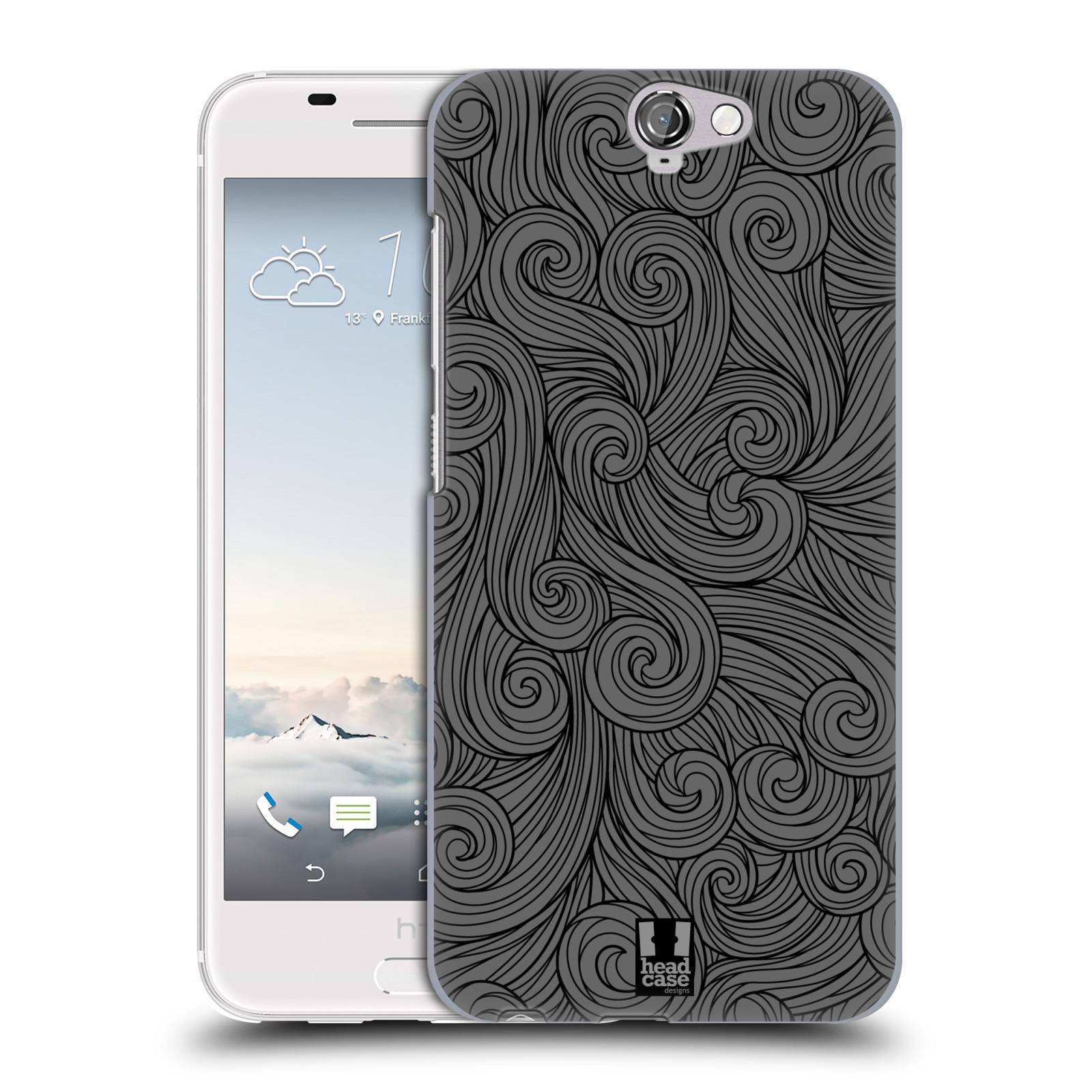 Plastové pouzdro na mobil HTC One A9 HEAD CASE Dark Grey Swirls (Kryt či obal na mobilní telefon HTC One A9)