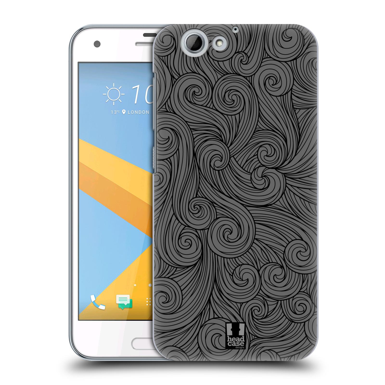 Plastové pouzdro na mobil HTC One A9s Head Case - Dark Grey Swirls (Plastový kryt či obal na mobilní telefon HTC One A9s (A9 s))