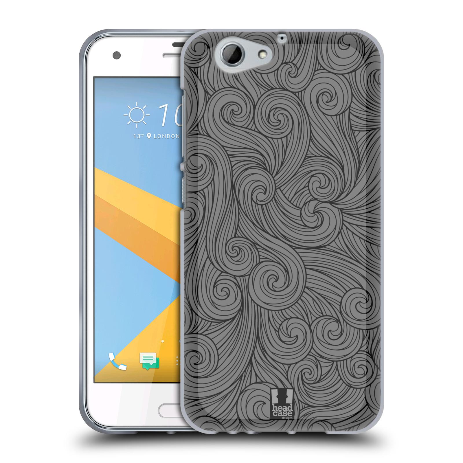 Silikonové pouzdro na mobil HTC One A9s Head Case - Dark Grey Swirls (Silikonový kryt či obal na mobilní telefon HTC One A9s (A9 s))
