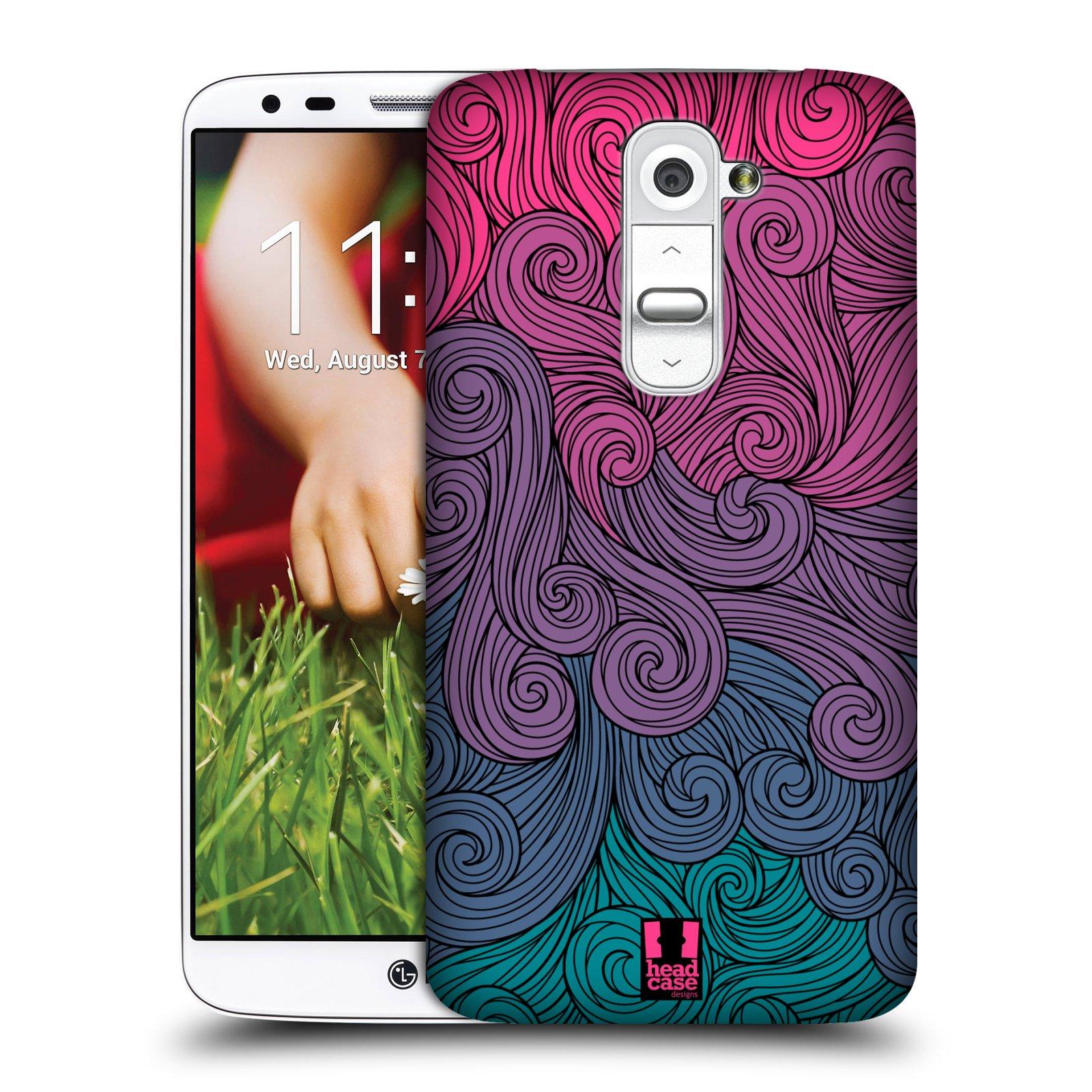Plastové pouzdro na mobil LG G2 HEAD CASE Swirls Hot Pink (Kryt či obal na mobilní telefon LG G2)