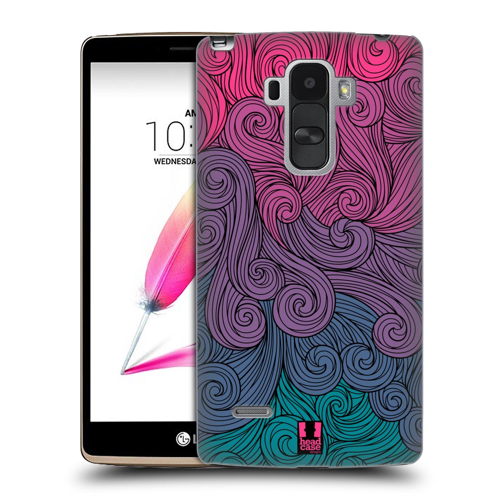 Plastové pouzdro na mobil LG G4 Stylus HEAD CASE Swirls Hot Pink (Kryt či obal na mobilní telefon LG G4 Stylus H635)