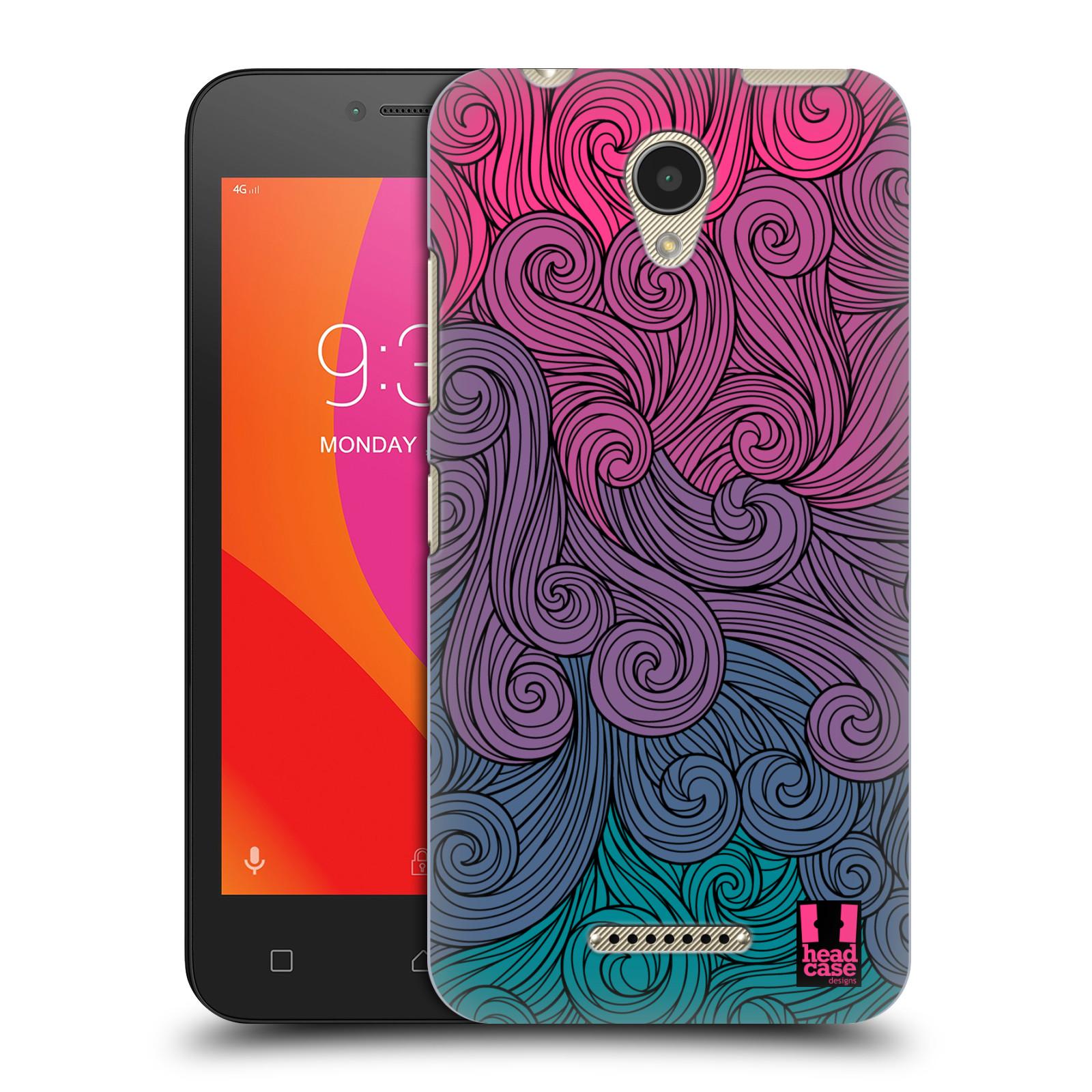 Plastové pouzdro na mobil Lenovo B - Head Case - Swirls Hot Pink (Plastový kryt či obal na mobilní telefon Lenovo B s motivem Swirls Hot Pink)
