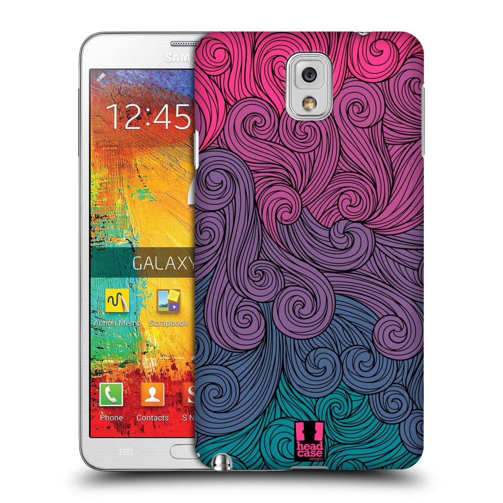 Plastové pouzdro na mobil Samsung Galaxy Note 3 HEAD CASE Swirls Hot Pink (Kryt či obal na mobilní telefon Samsung Galaxy Note 3 SM-N9005)