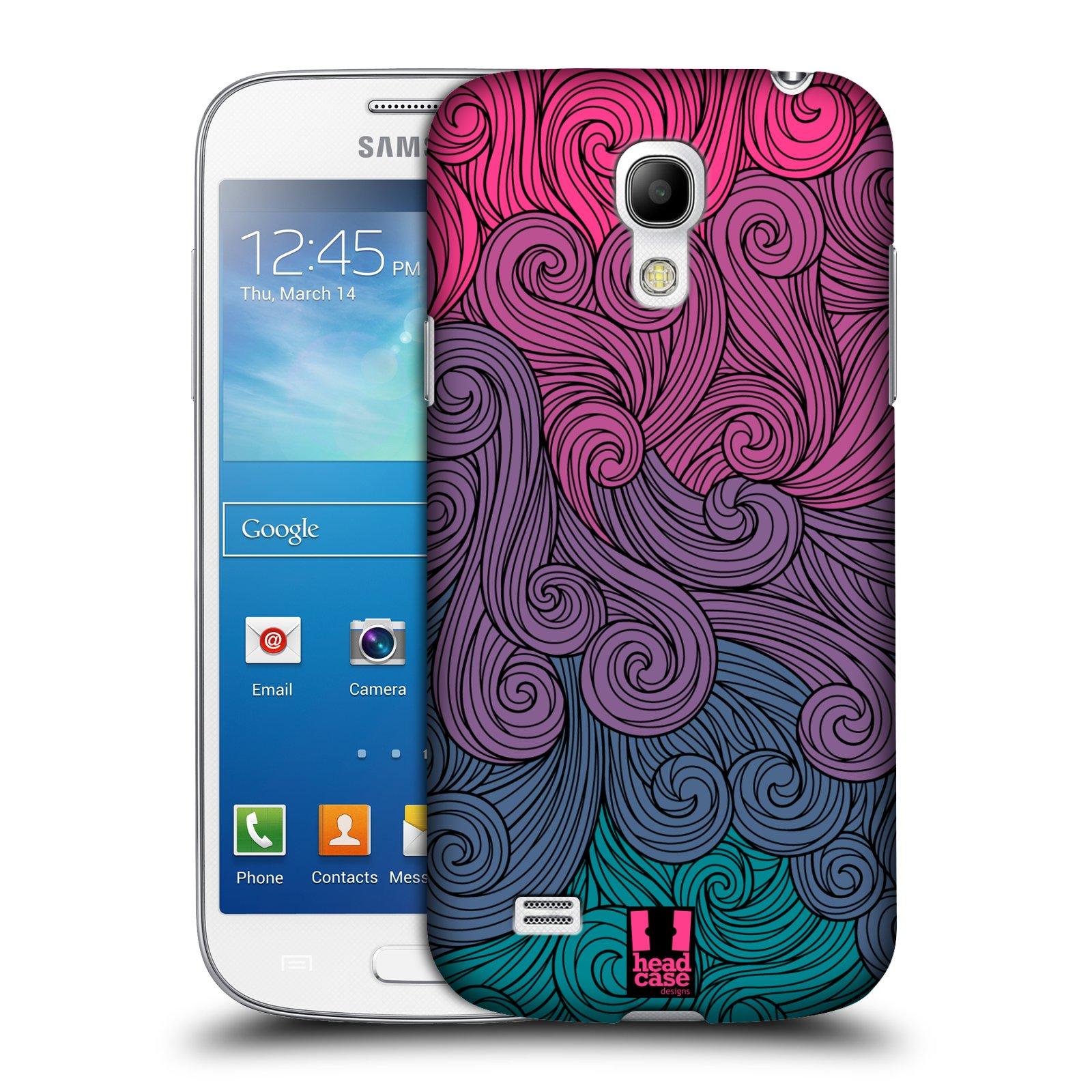 Plastové pouzdro na mobil Samsung Galaxy S4 Mini VE HEAD CASE Swirls Hot Pink (Kryt či obal na mobilní telefon Samsung Galaxy S4 Mini VE GT-i9195i)