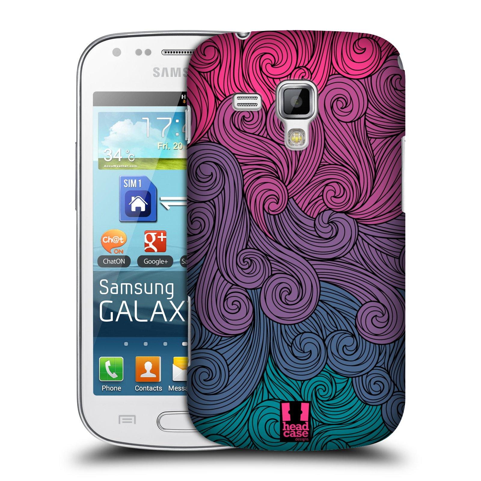Plastové pouzdro na mobil Samsung Galaxy S Duos HEAD CASE Swirls Hot Pink (Kryt či obal na mobilní telefon Samsung Galaxy S Duos GT-S7562)