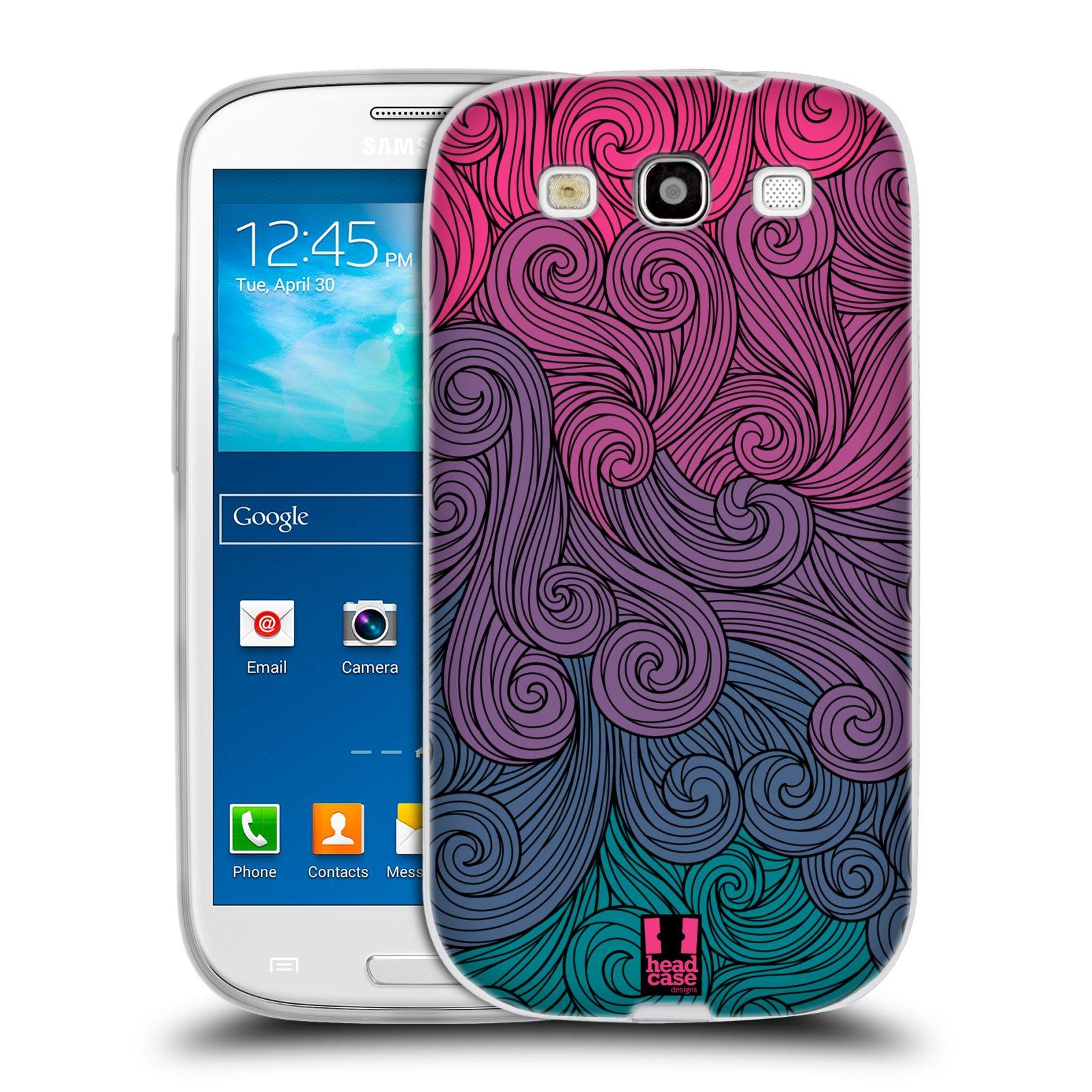 Silikonové pouzdro na mobil Samsung Galaxy S3 Neo HEAD CASE Swirls Hot Pink (Silikonový kryt či obal na mobilní telefon Samsung Galaxy S3 Neo GT-i9301i)